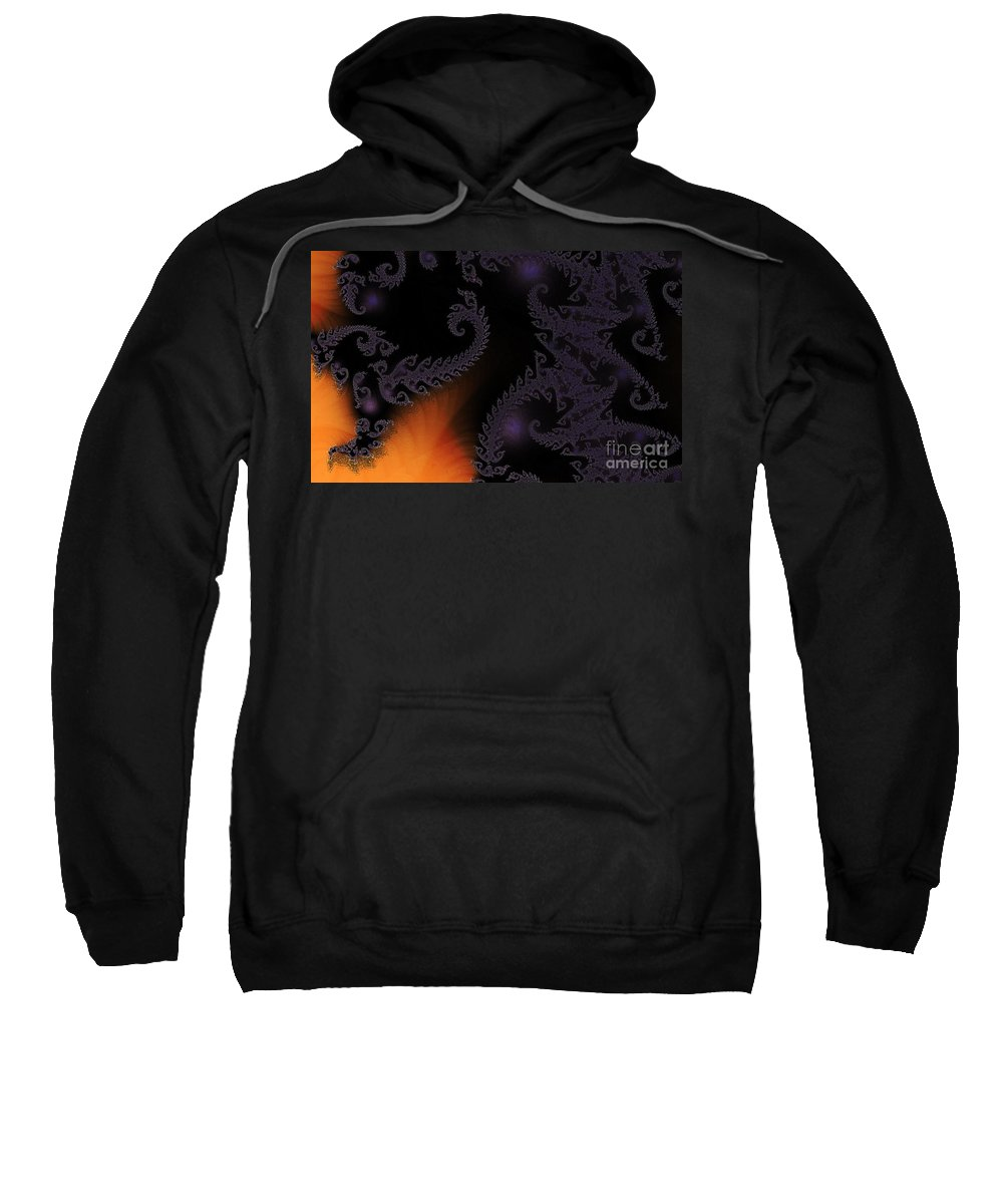 Clay Sweatshirt featuring the digital art Life Under Glass by Clayton Bruster