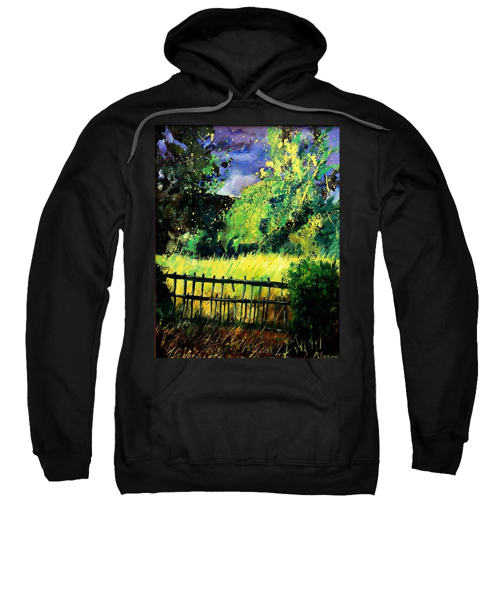 Spring Sweatshirt featuring the painting Light Before The Storm by Pol Ledent