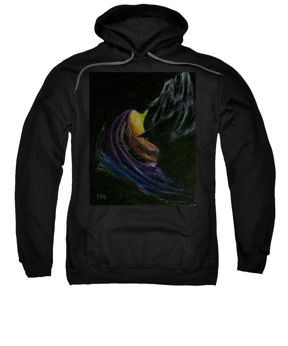 Sweatshirt featuring the painting Light Of Day by Stephen King