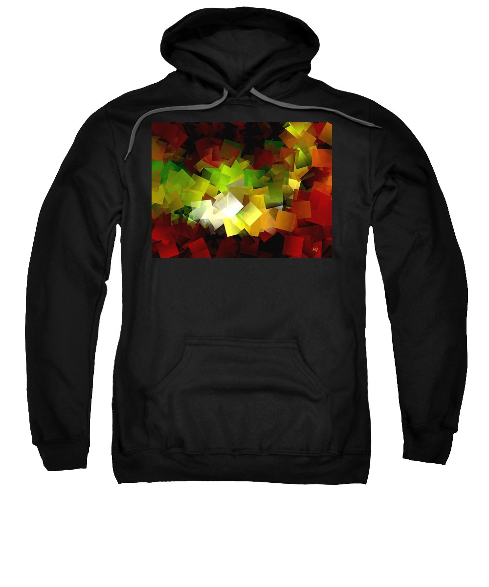 Kubic Sweatshirt featuring the digital art Light On The End Of Darkness by Helmut Rottler