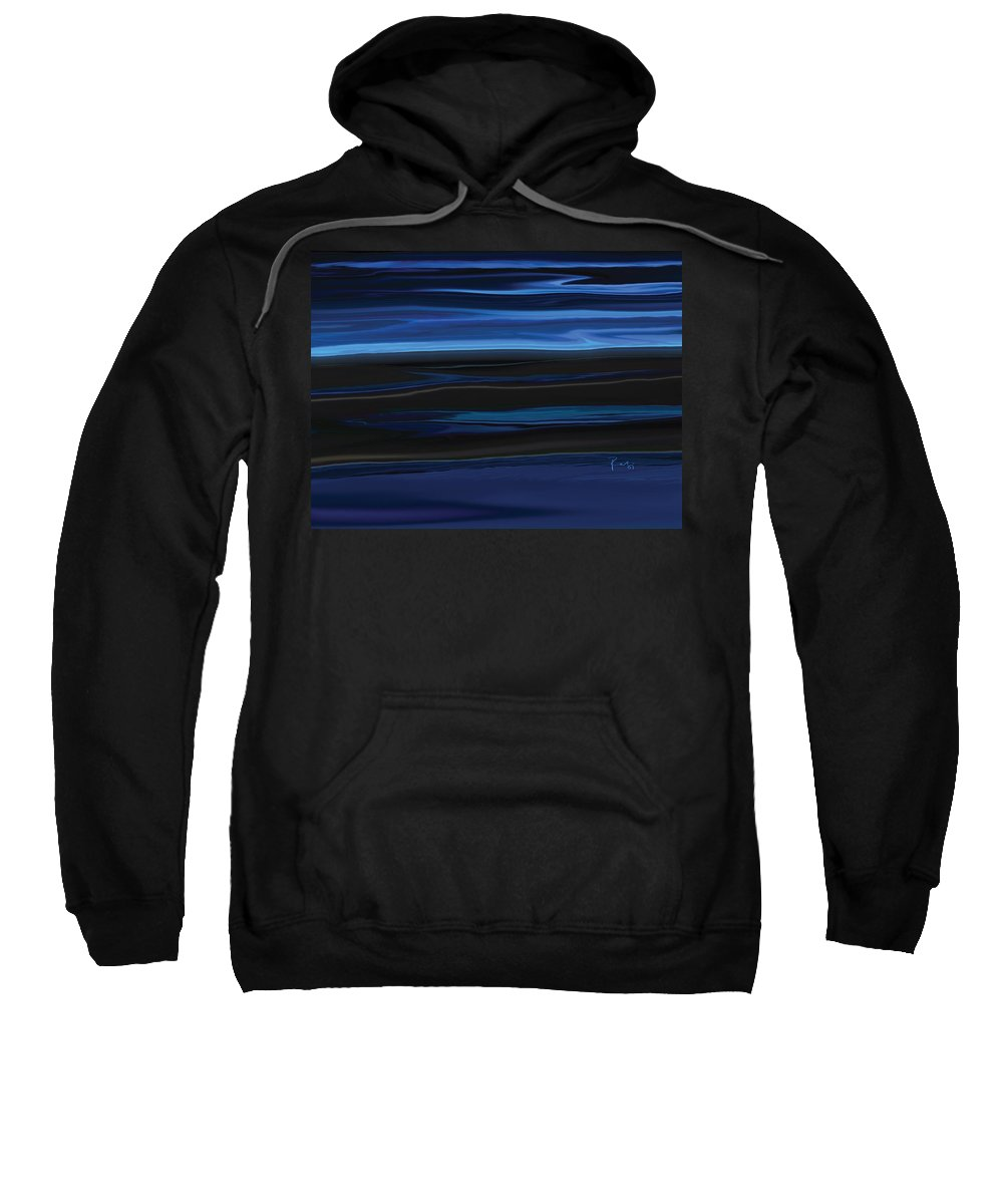 Black Sweatshirt featuring the digital art Light On The Horizon by Rabi Khan