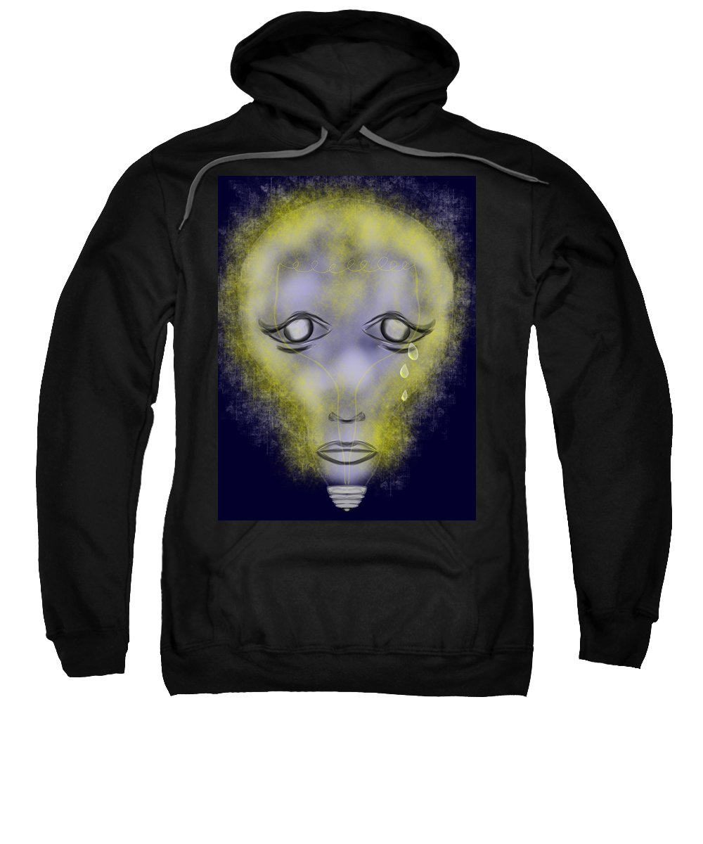 Sweatshirt featuring the digital art Light Out by Mathieu Lalonde