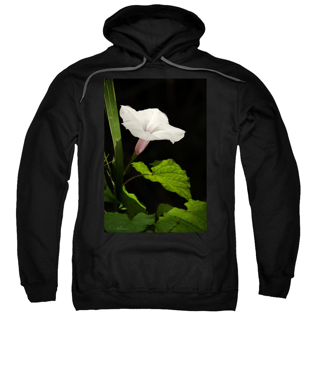 Flower Sweatshirt featuring the photograph Light Out Of The Dark by Christopher Holmes