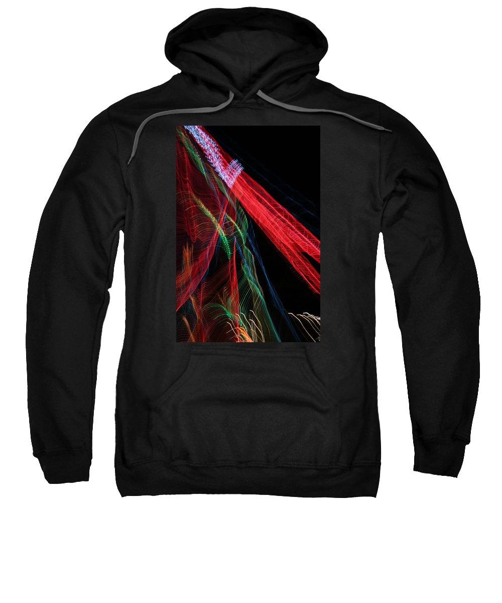 Christmas Sweatshirt featuring the photograph Light Ribbons by Ric Bascobert
