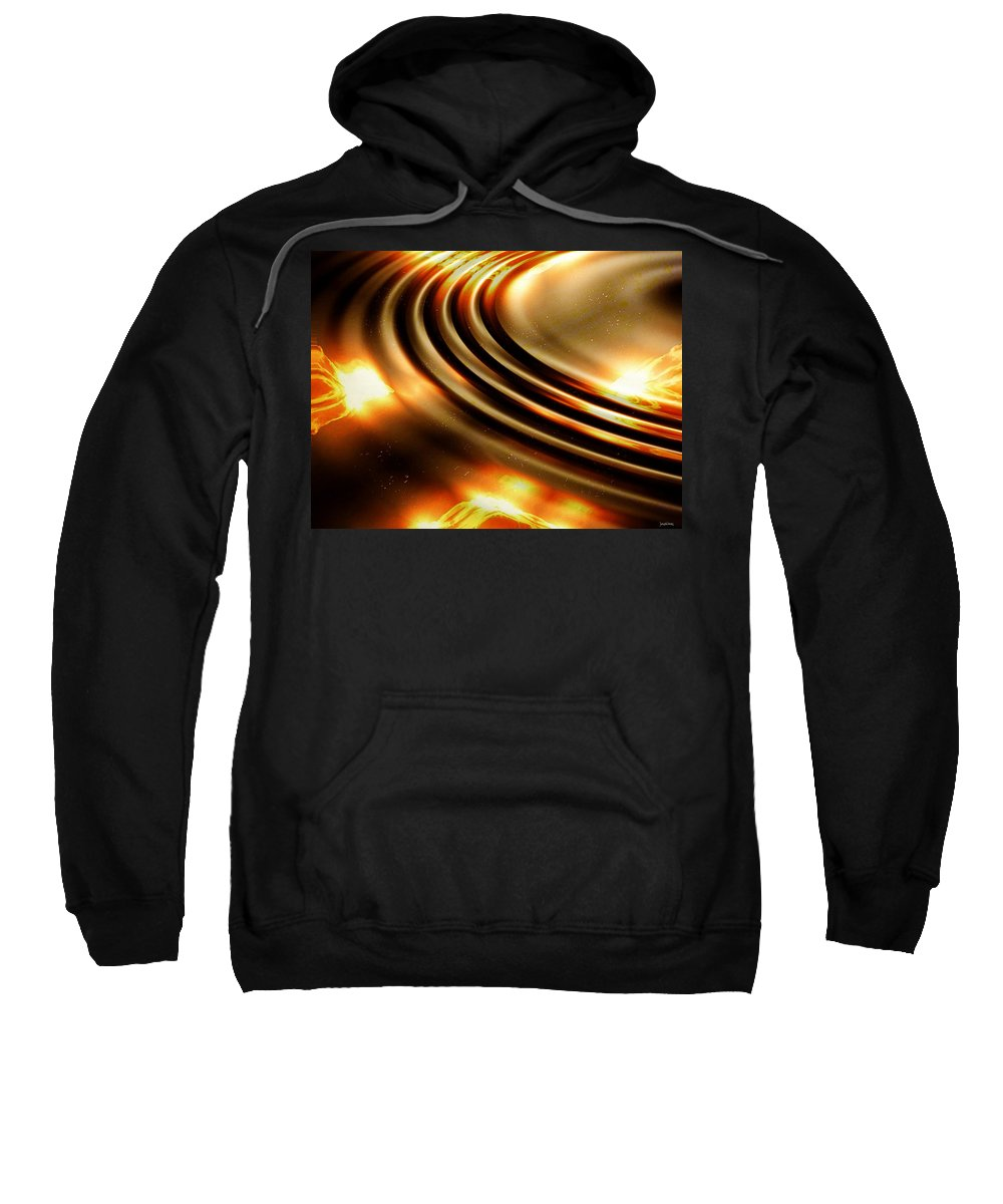 Ripple Sweatshirt featuring the digital art Light Show by Robert Orinski