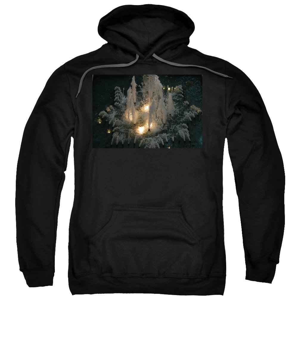 Lights Sweatshirt featuring the photograph Lighted Fountain by Rob Hans