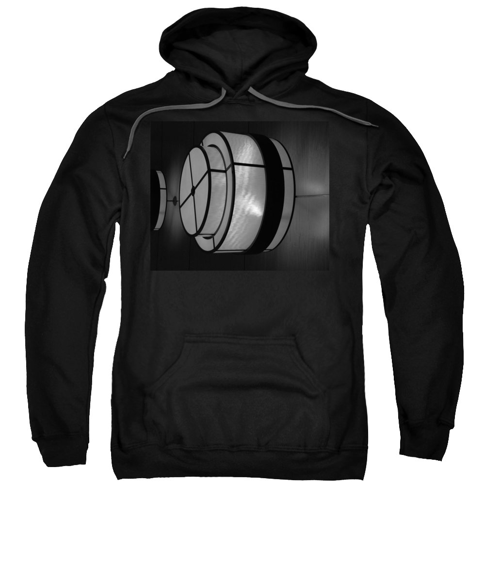 Black And White Sweatshirt featuring the photograph Lighted Wall In Black And White by Rob Hans