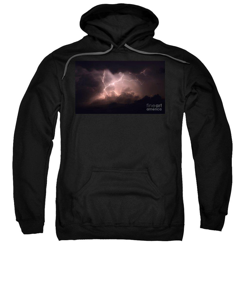 Lightning Sweatshirt featuring the photograph Lightning 2 by Bob Christopher