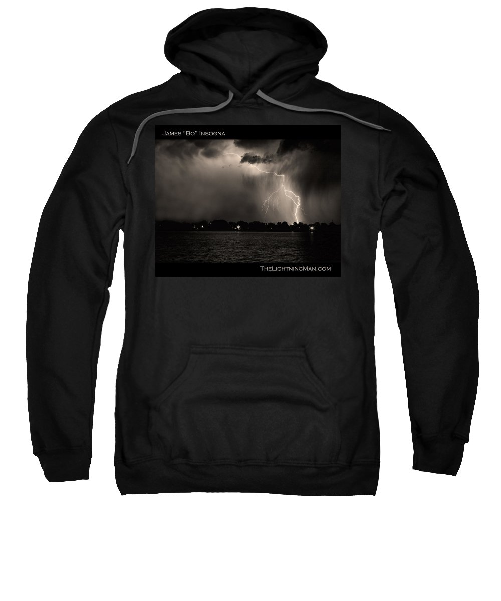 Lightning Sweatshirt featuring the photograph Lightning Energy Poster Print by James BO Insogna