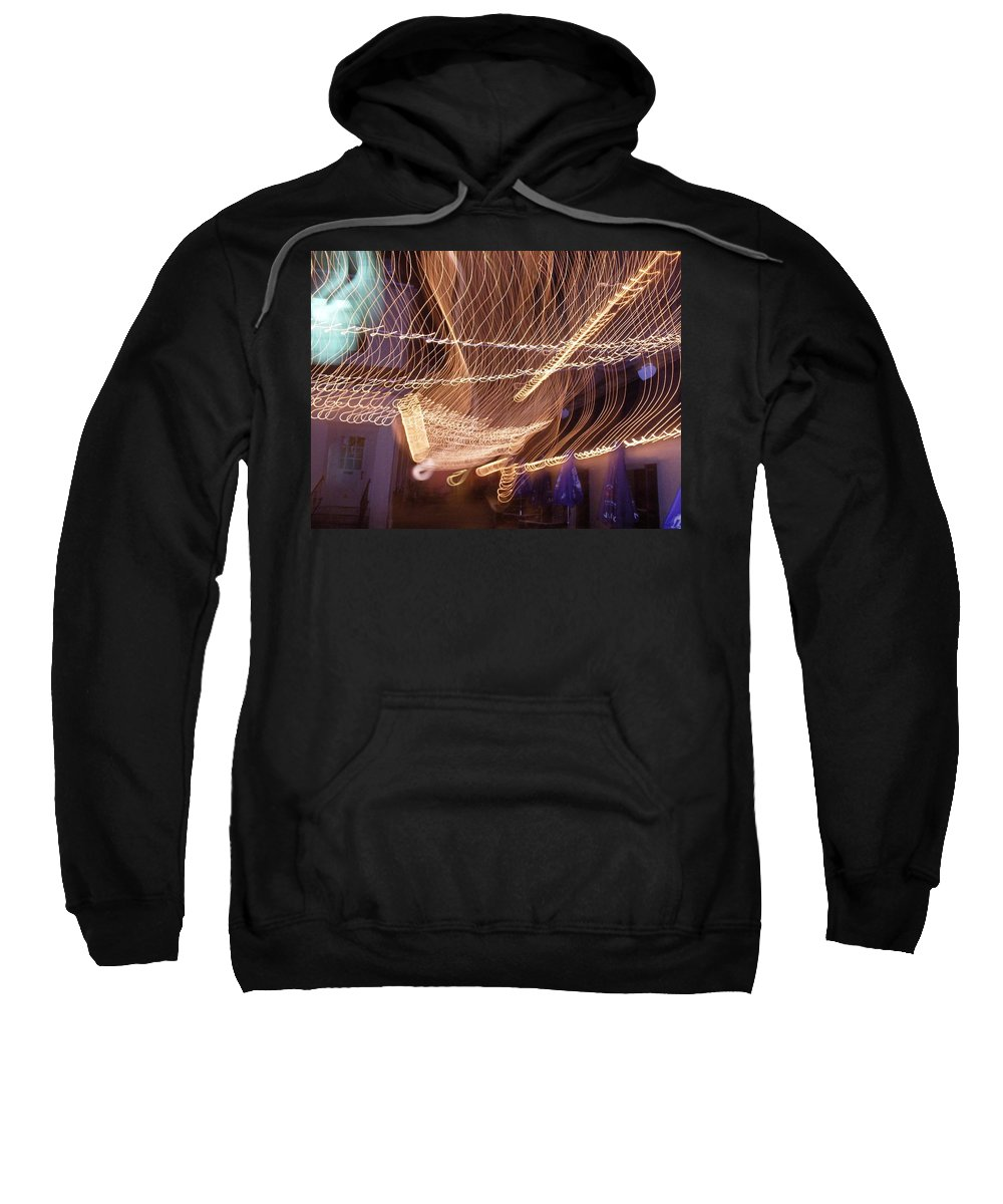 Photograph Sweatshirt featuring the photograph Lights That Dance Together by Thomas Valentine