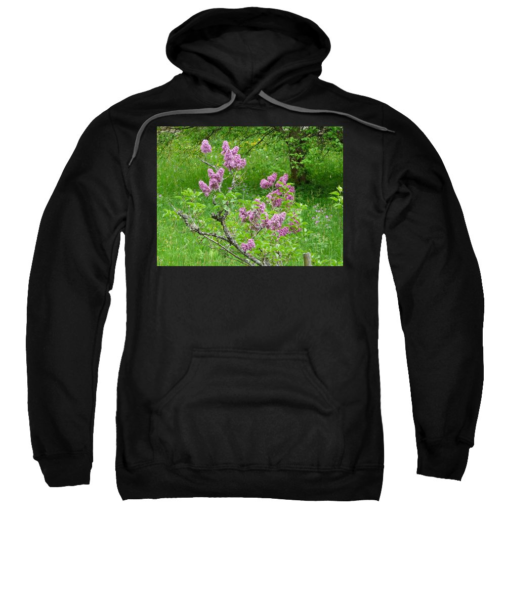 Flower Sweatshirt featuring the photograph Lilac In The Spring Meadow by Valerie Ornstein