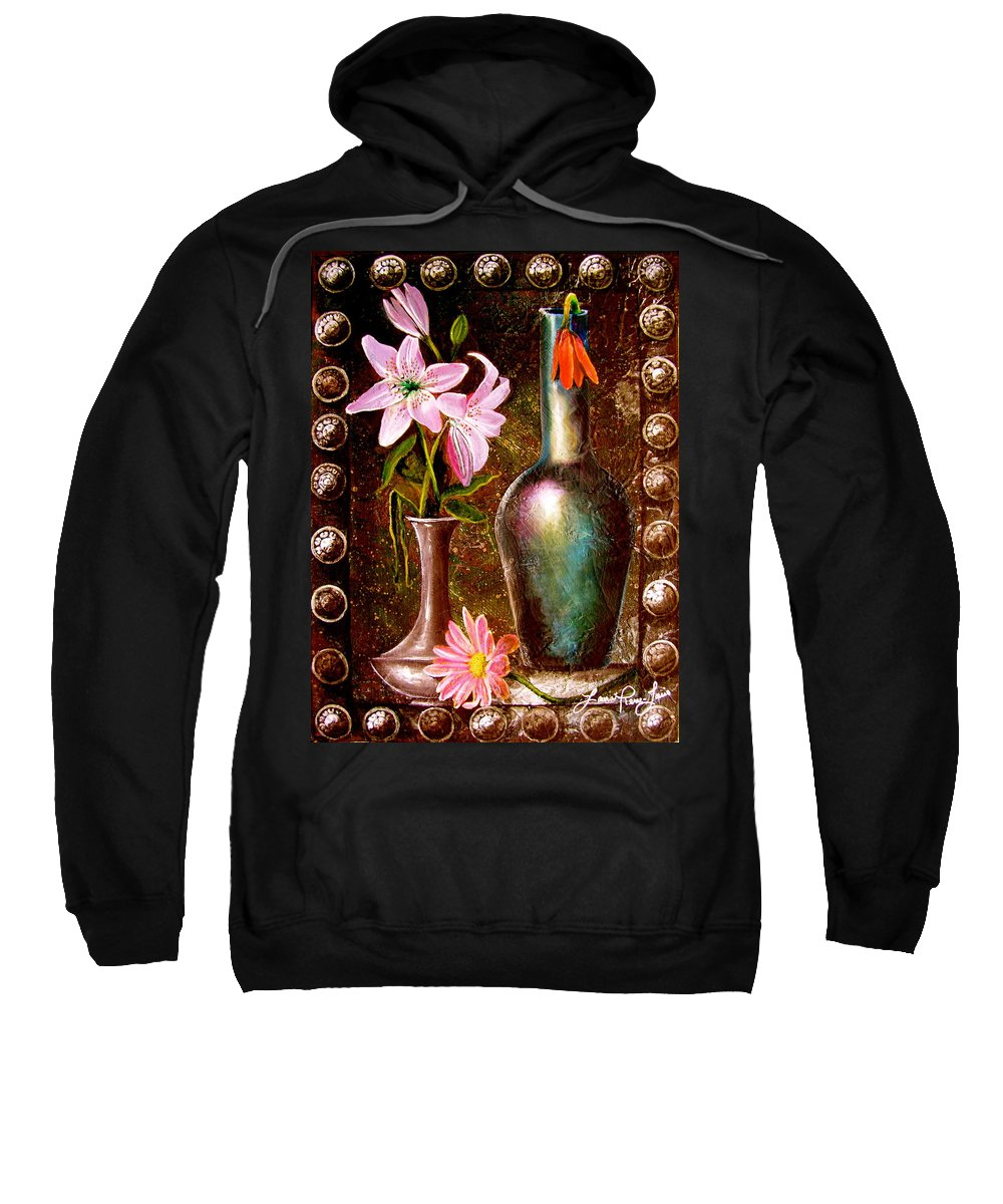 Painting Sweatshirt featuring the painting Lilies by Laura Pierre-Louis
