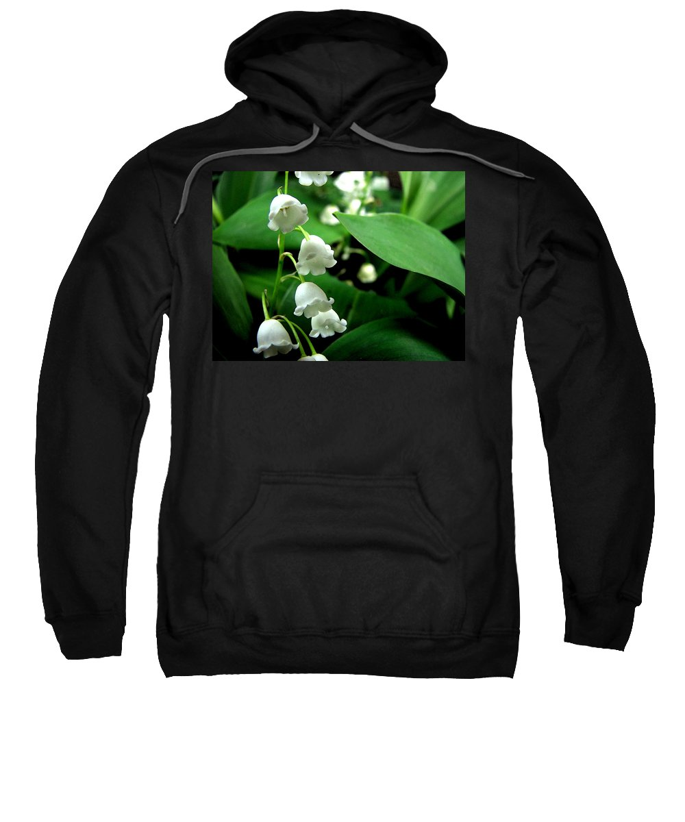 Flower Sweatshirt featuring the photograph Lily Of The Valley by Michelle Calkins