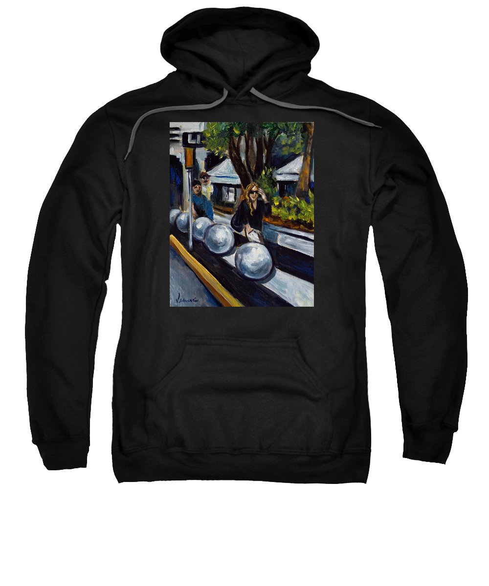 Shopping Sweatshirt featuring the painting Lincoln Road by Valerie Vescovi