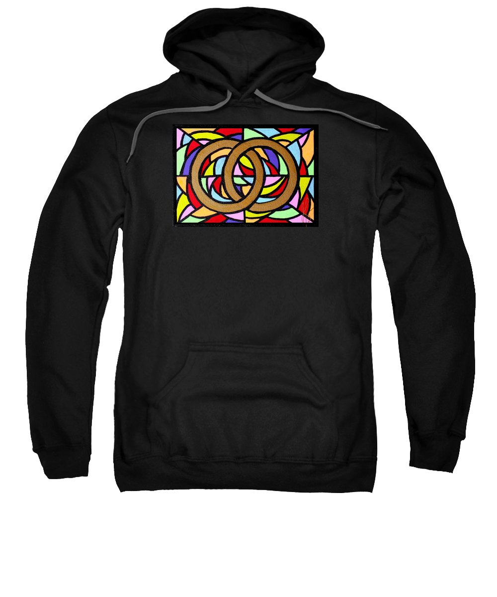 Wedding Sweatshirt featuring the painting Linked by Jim Harris