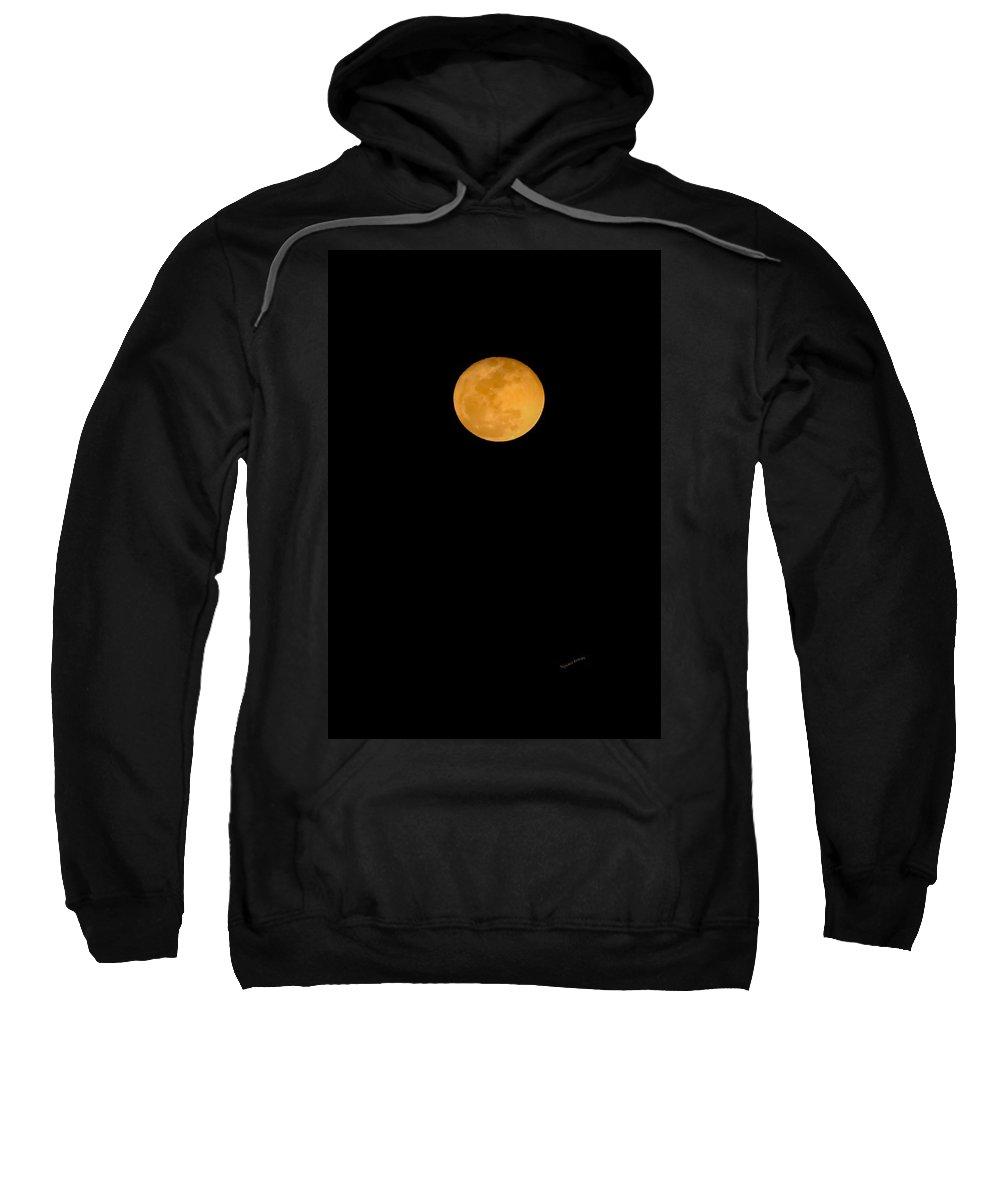 Lunar Sweatshirt featuring the digital art Linten Moon by DigiArt Diaries by Vicky B Fuller