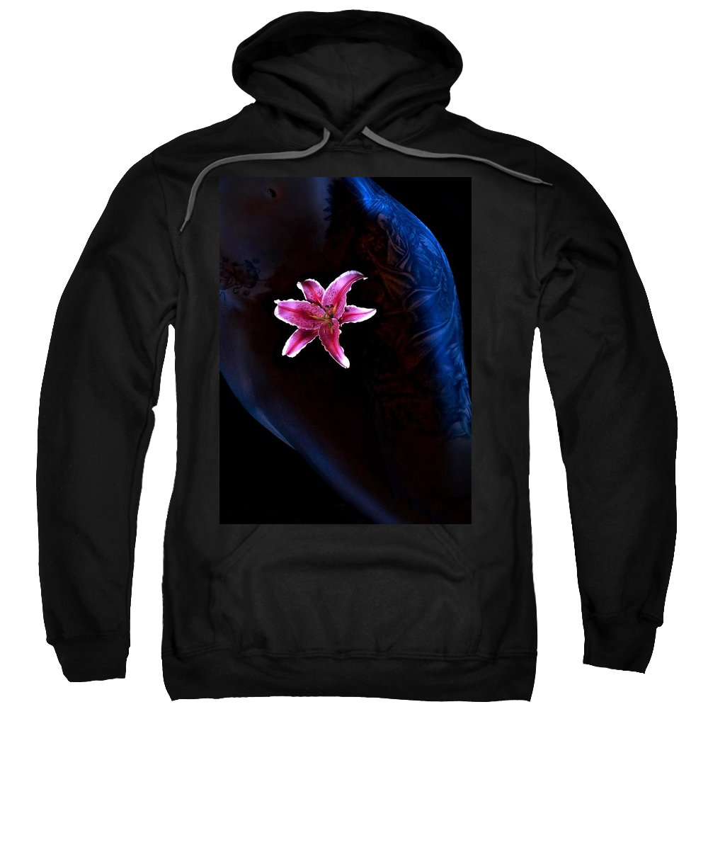 Woman Sweatshirt featuring the photograph Lirio by Sergio Bondioni