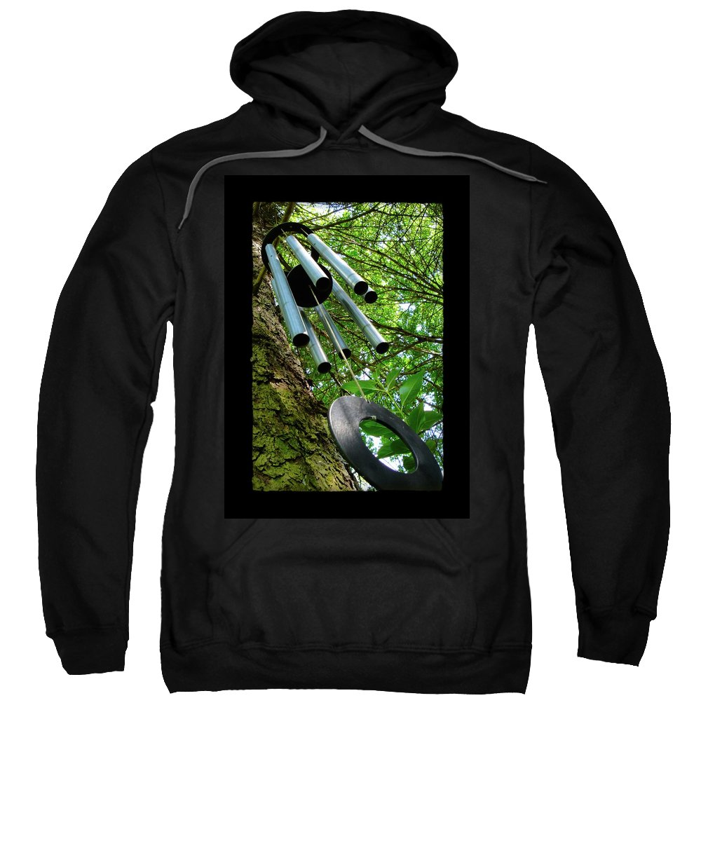 Wind Chimes Sweatshirt featuring the photograph Listen To The Wind by Jane Alexander