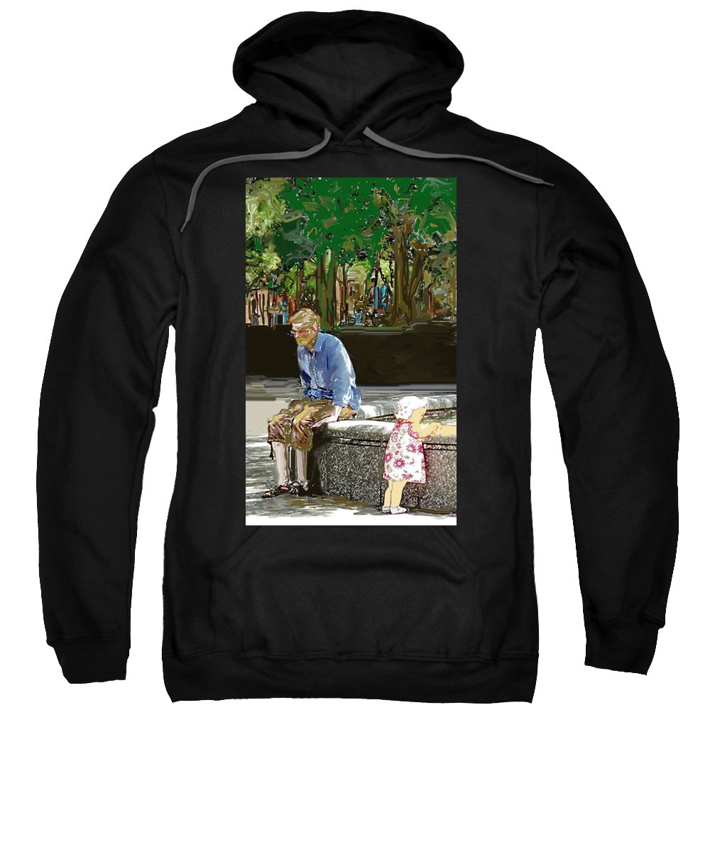 Park Sweatshirt featuring the photograph Little Miss Sunshine by Ian MacDonald
