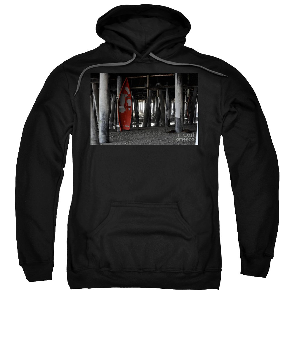 Clay Sweatshirt featuring the photograph Little Red Boat by Clayton Bruster