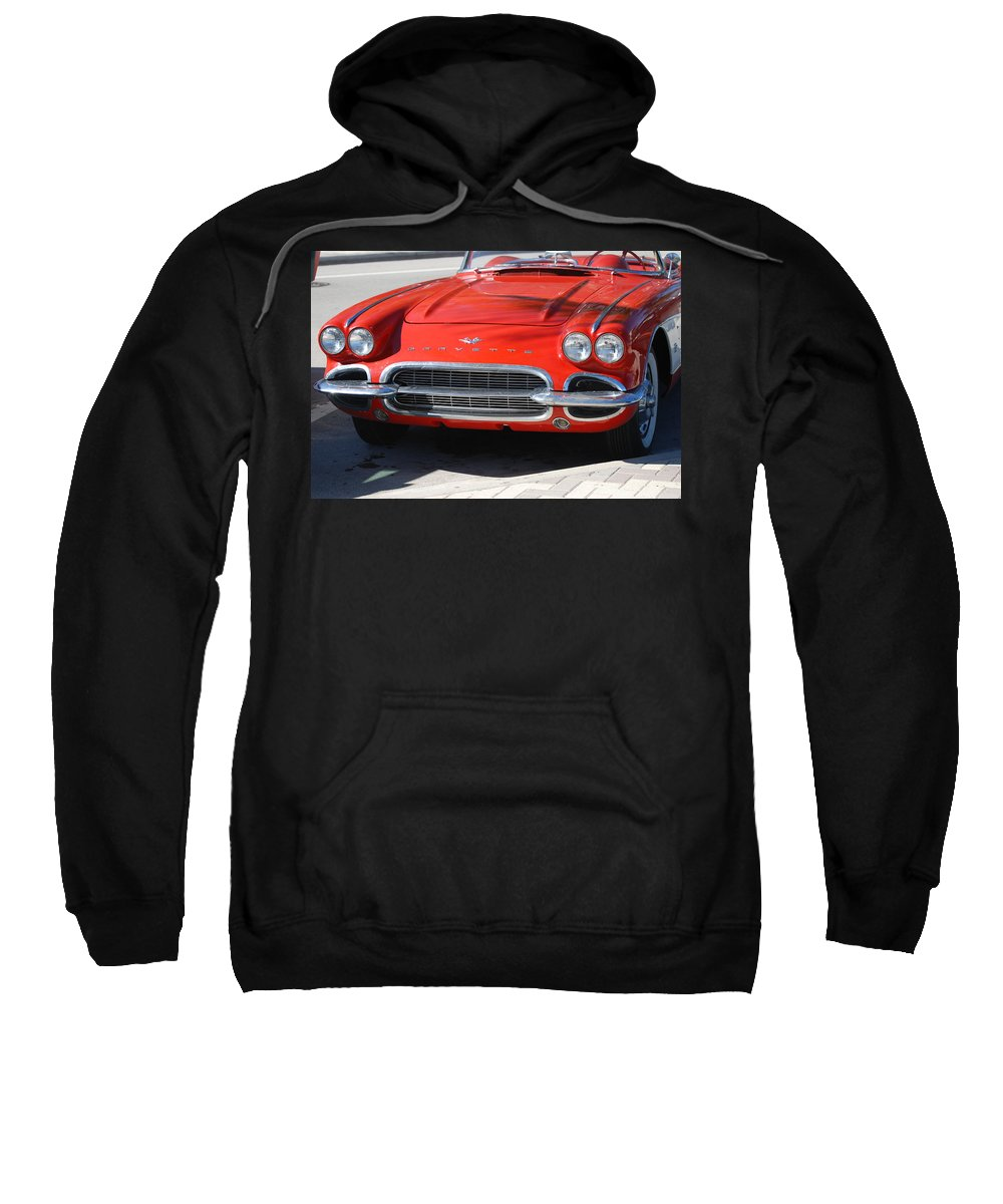 Corvette Sweatshirt featuring the photograph Little Red Corvette by Rob Hans