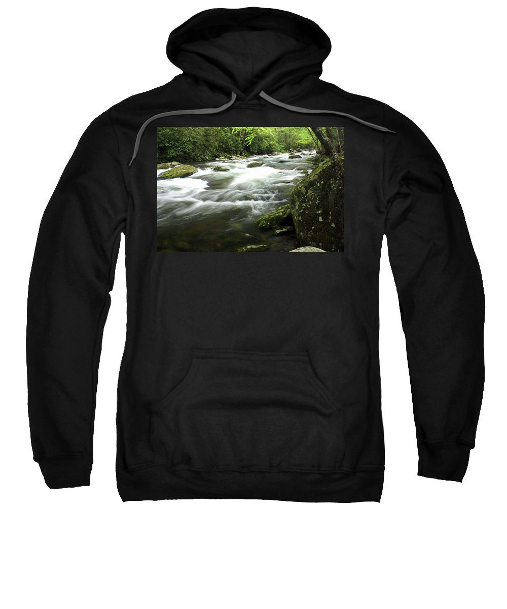 Little River Sweatshirt featuring the photograph Little River 3 by Marty Koch