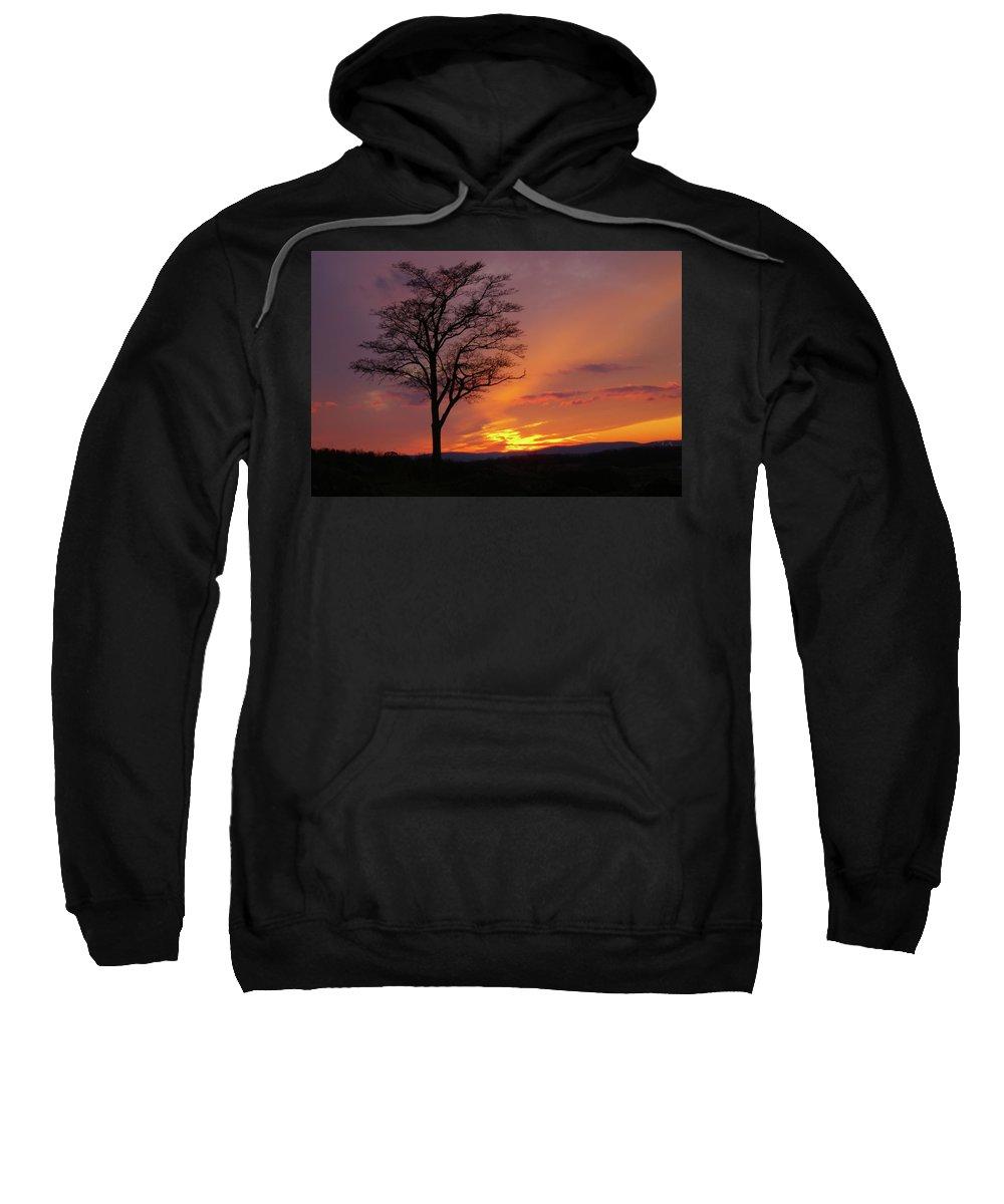 Gettysburg Sweatshirt featuring the photograph Little Round Top Sunset by Jen Goellnitz