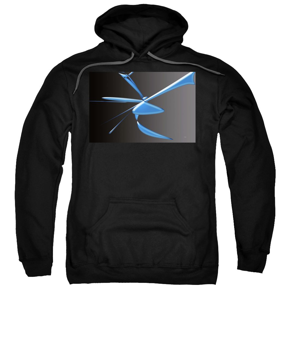 Music Sweatshirt featuring the digital art Live Music by Laura Greco