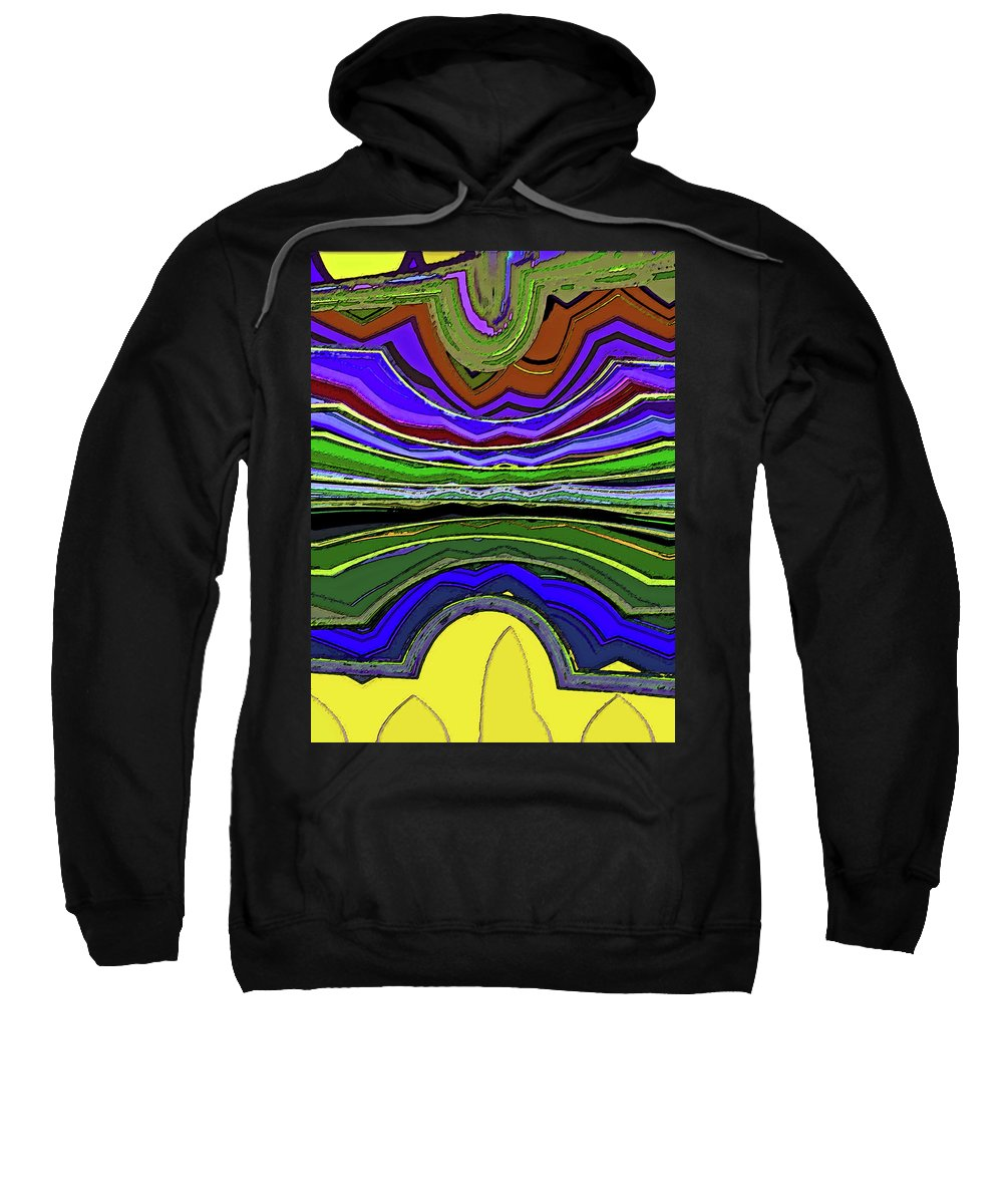 Abstract Sweatshirt featuring the digital art Living In Wyoming by Lenore Senior
