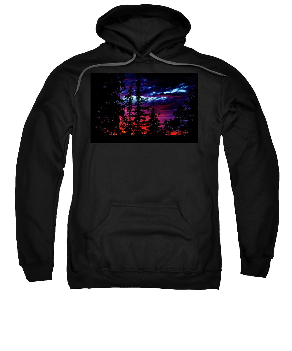 Sunset Sweatshirt featuring the photograph Lodge Sunset by Ed Ostrander
