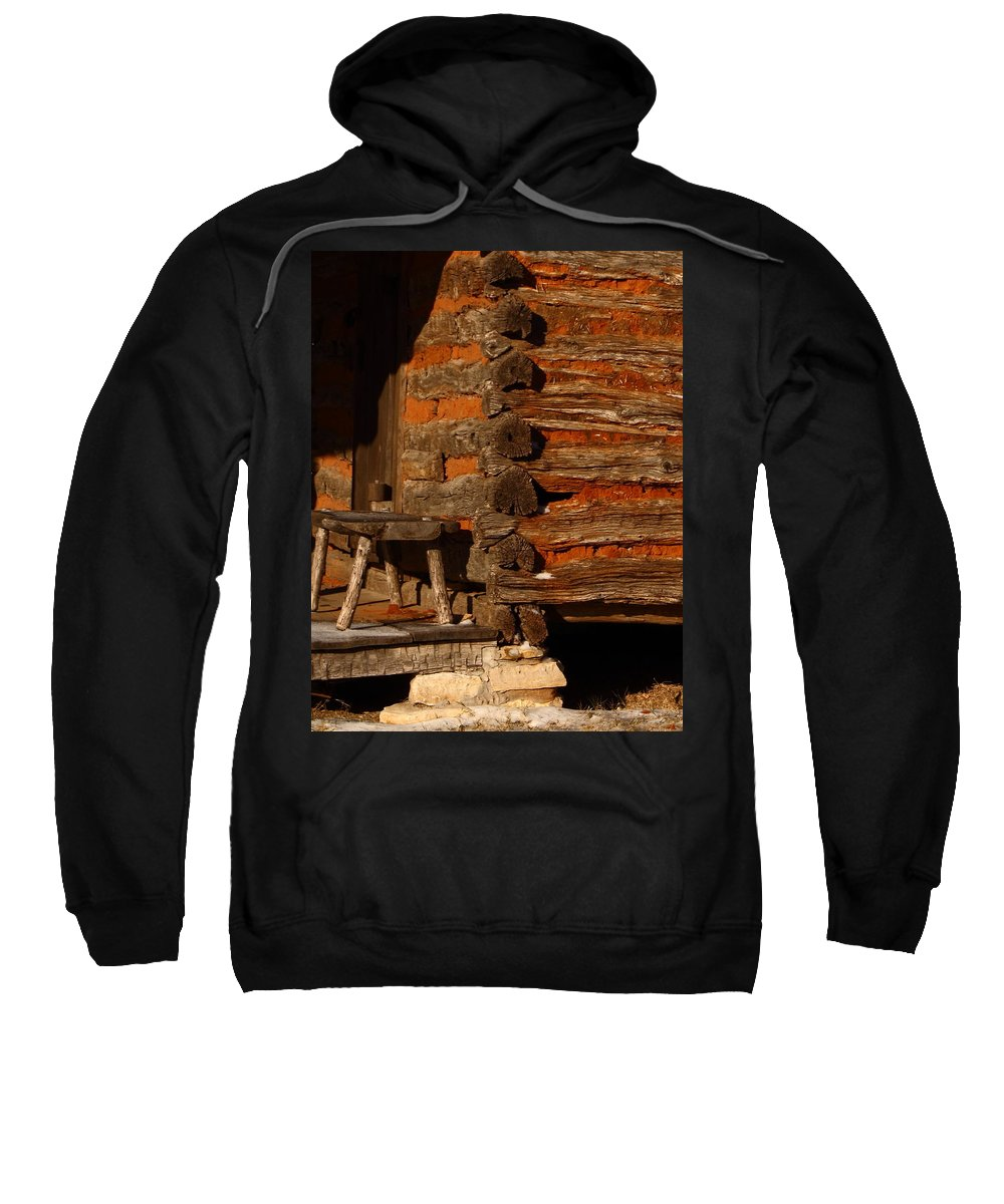 Building Sweatshirt featuring the photograph Log Cabin by Robert Frederick