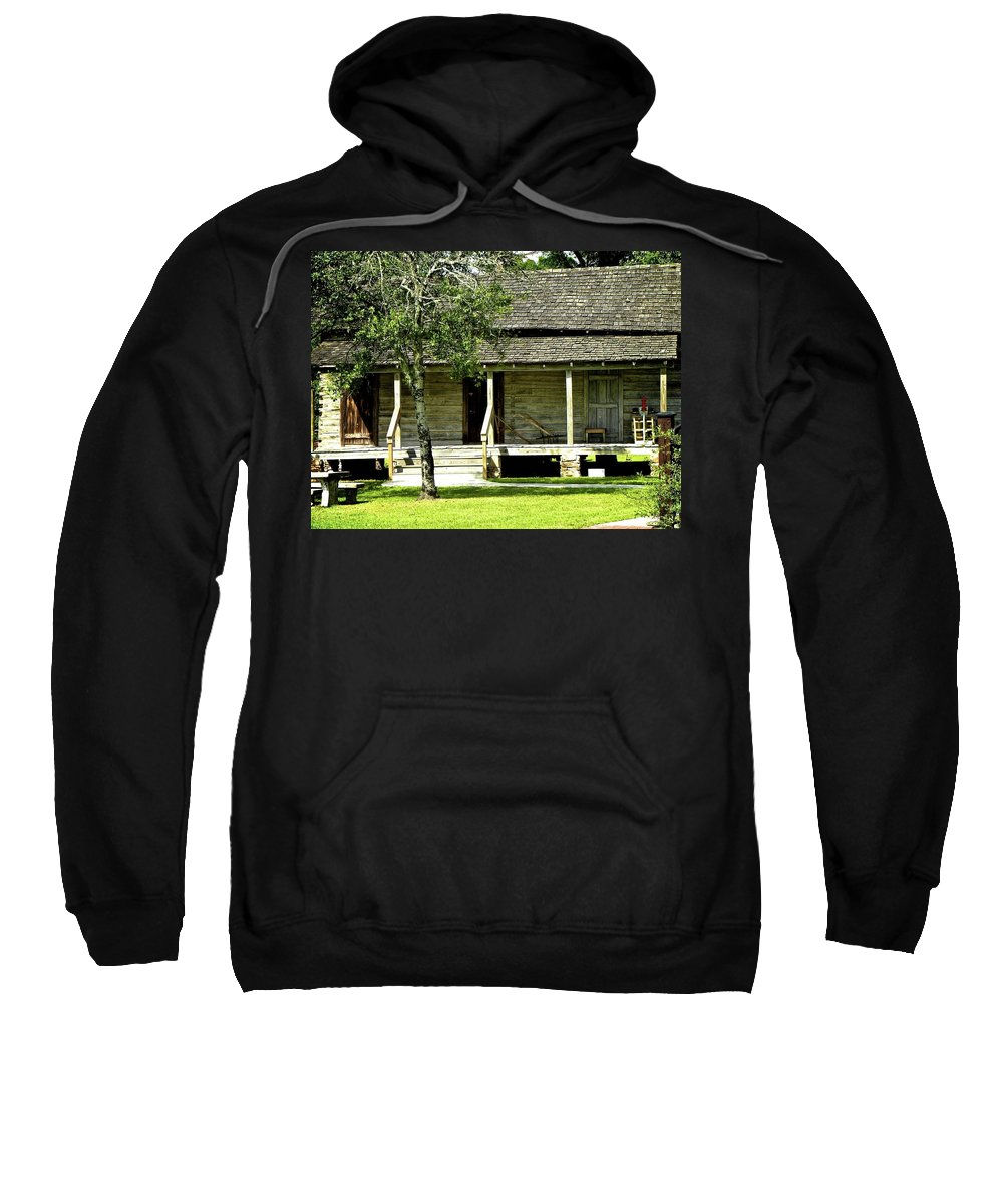 Cabin Sweatshirt featuring the photograph Log Cabin by Shannon Turek