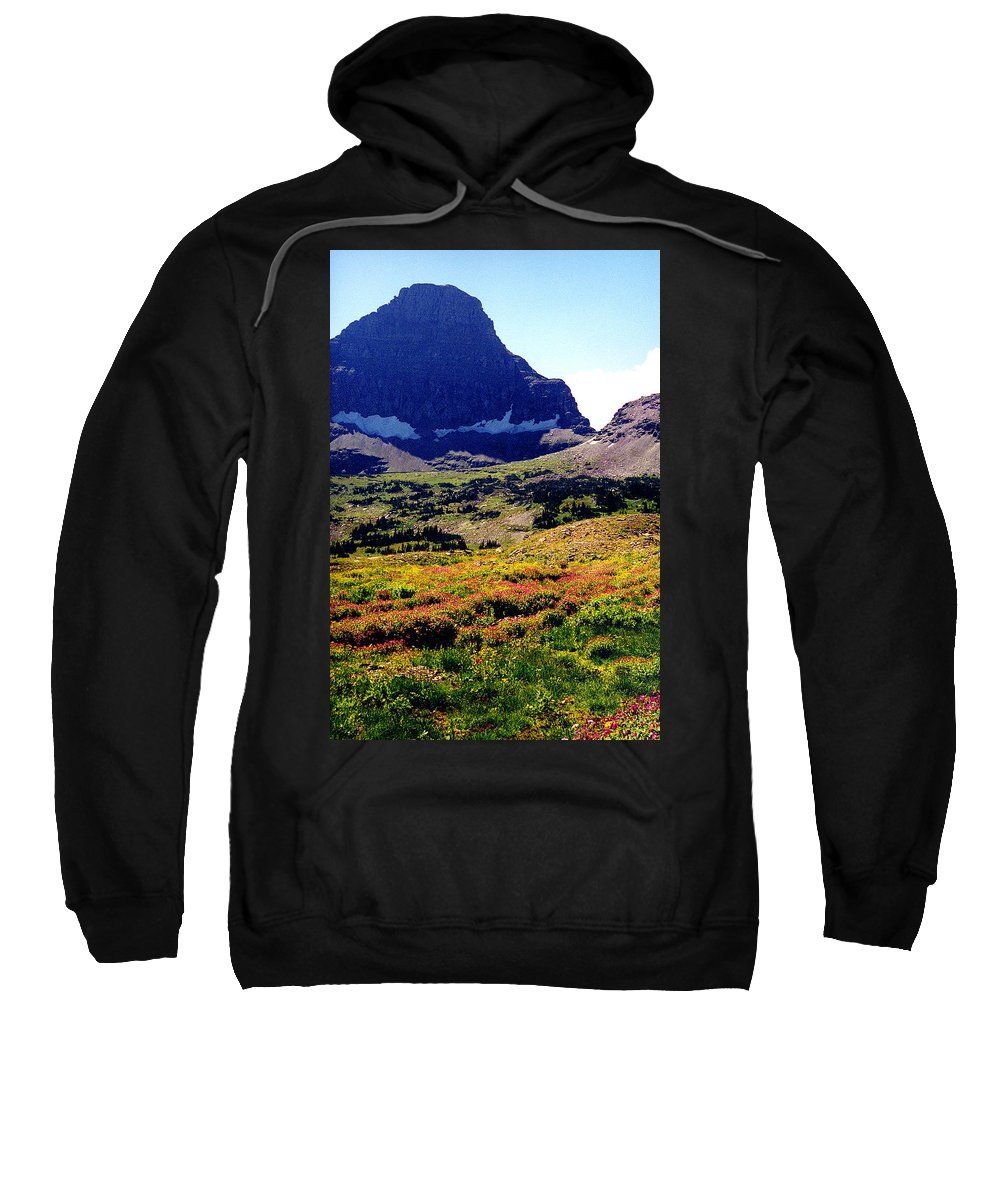 Glacier National Park Sweatshirt featuring the photograph Logans Pass In Glacier National Park by Nancy Mueller