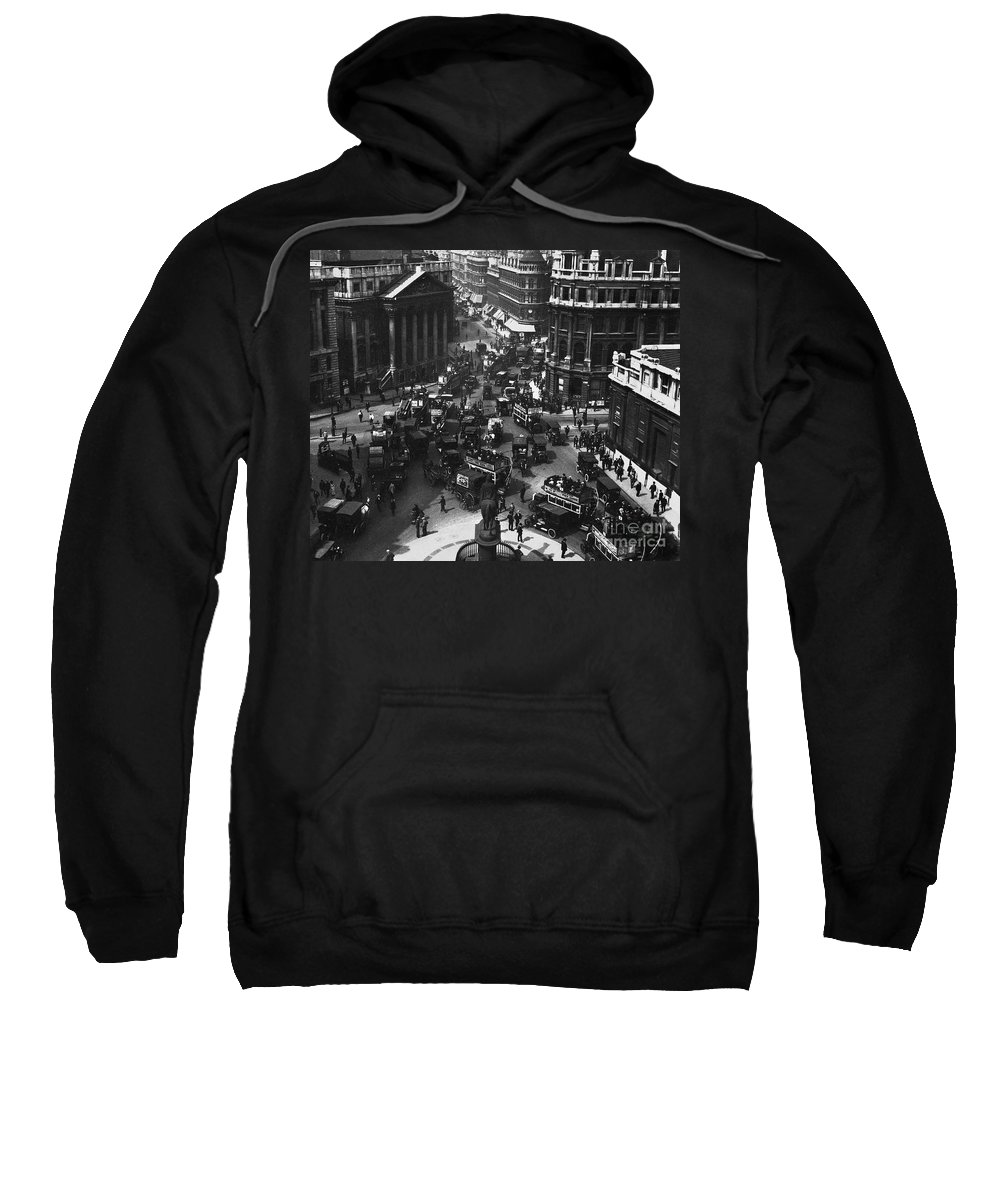 1910 Sweatshirt featuring the photograph London: Financial District by Granger