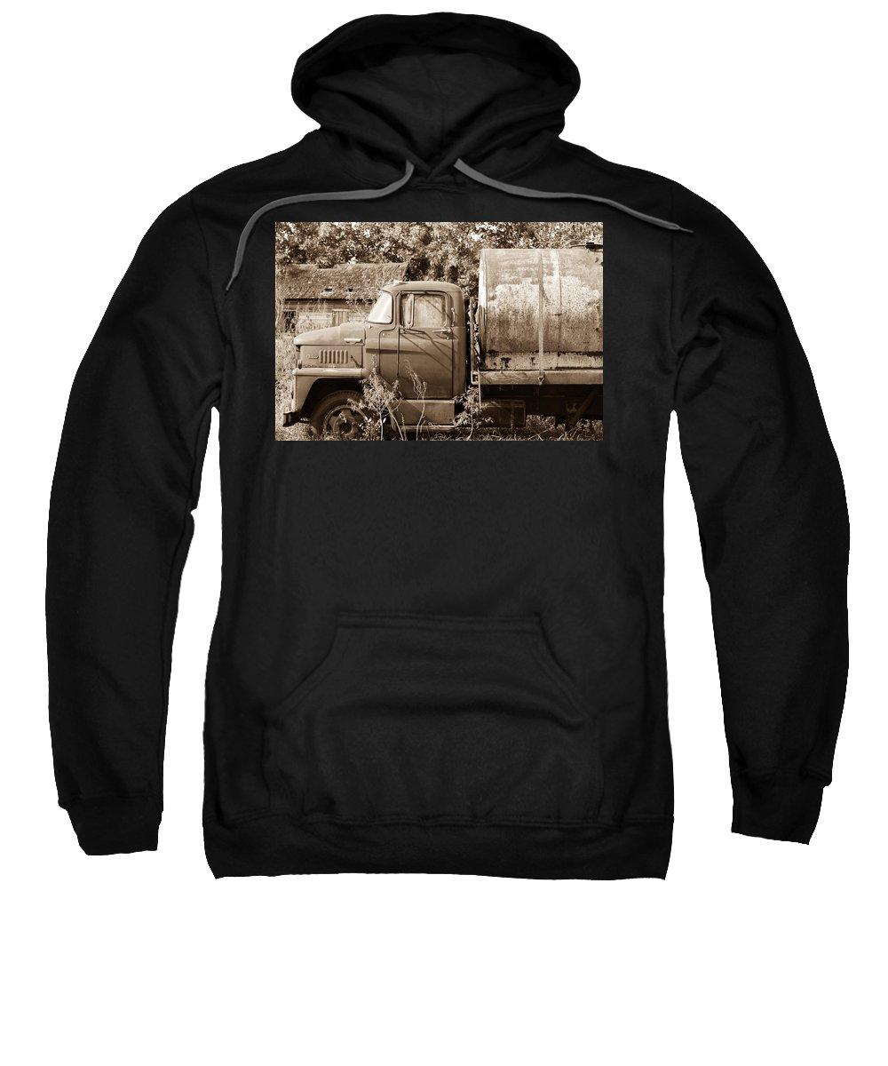 Truck Sweatshirt featuring the photograph Lonely Truck by Willard Sharp