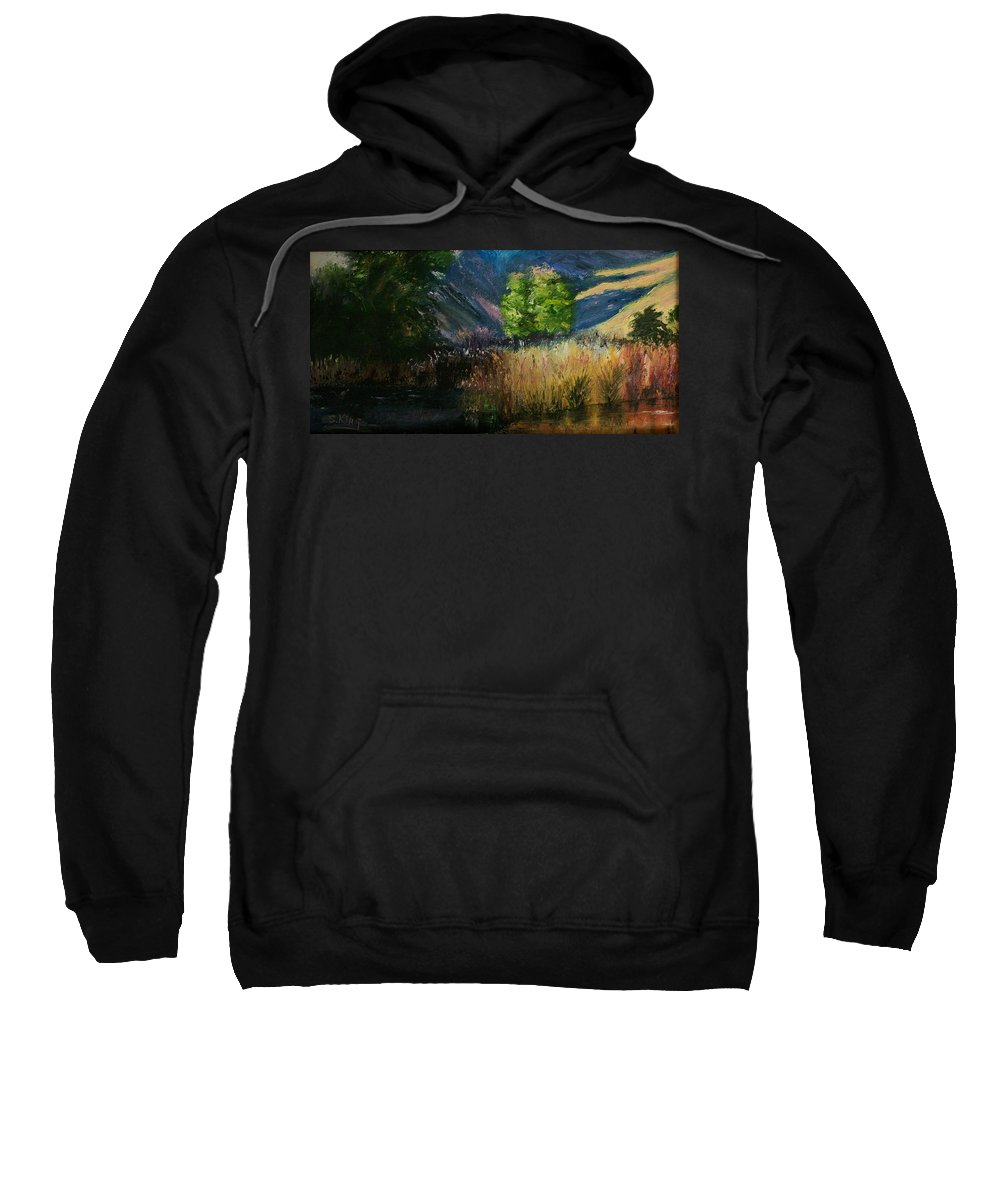 Landscape Sweatshirt featuring the painting Long Shadows by Stephen King