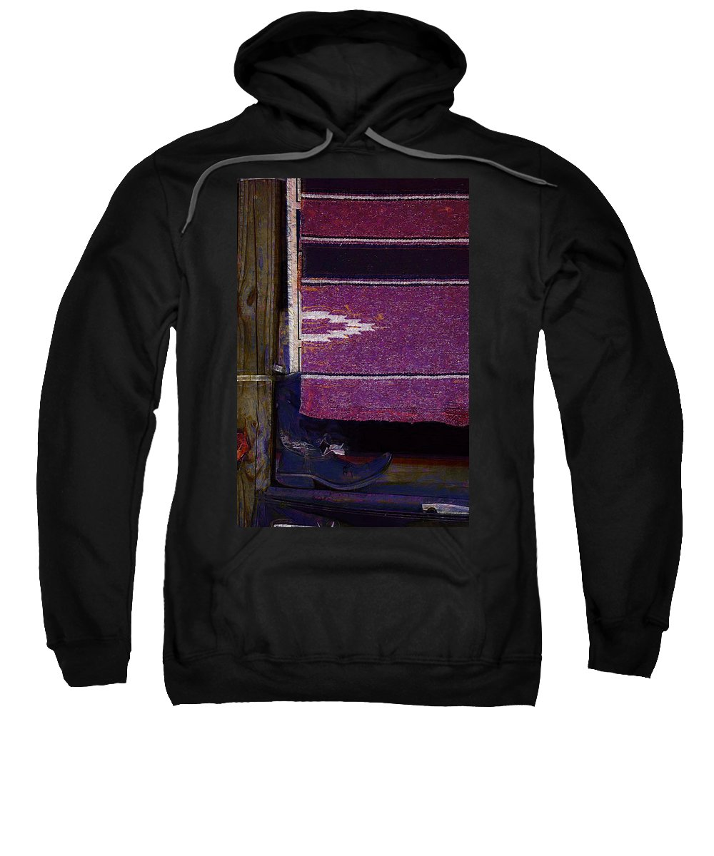 Boots Sweatshirt featuring the photograph Long Way Home4 by Donna Bentley