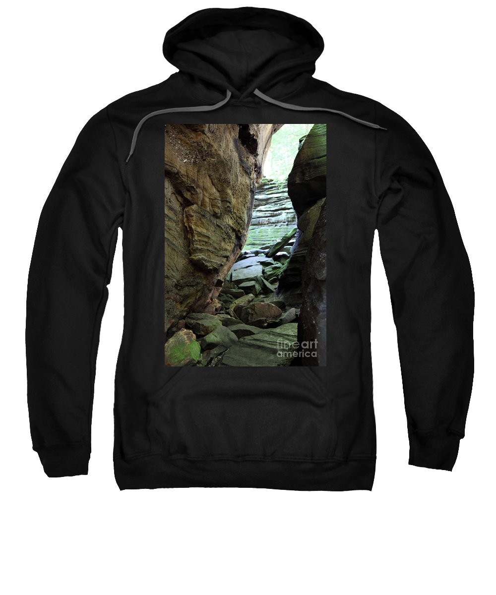 Faces Sweatshirt featuring the photograph Looking Glass by Amanda Barcon