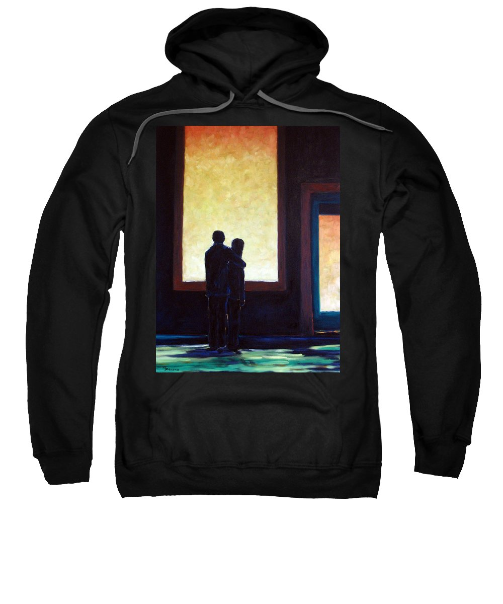 Pranke Sweatshirt featuring the painting Looking In Looking Out by Richard T Pranke