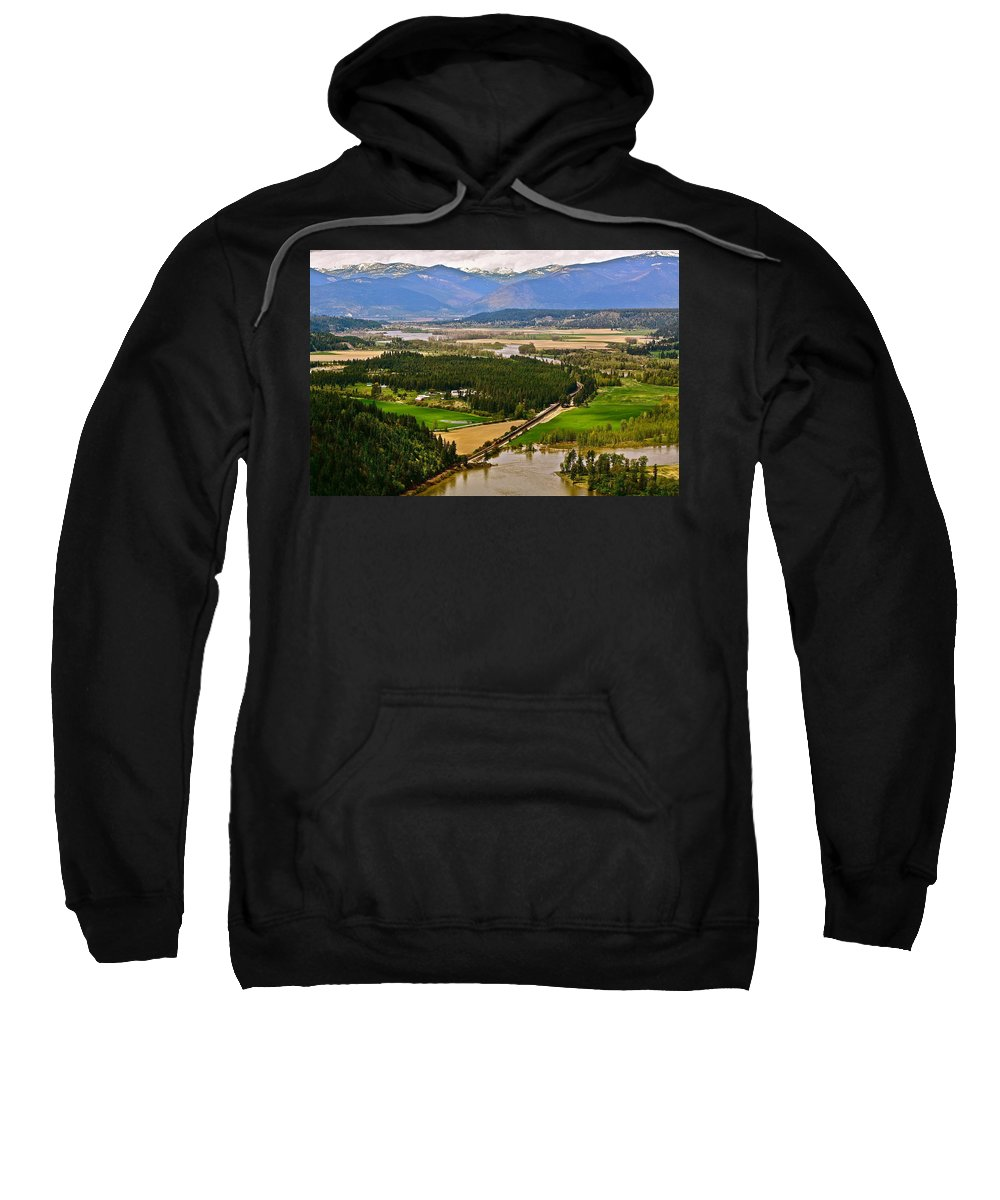 Landscape Sweatshirt featuring the photograph Looking Toward Bonners Ferry by Diana Hatcher