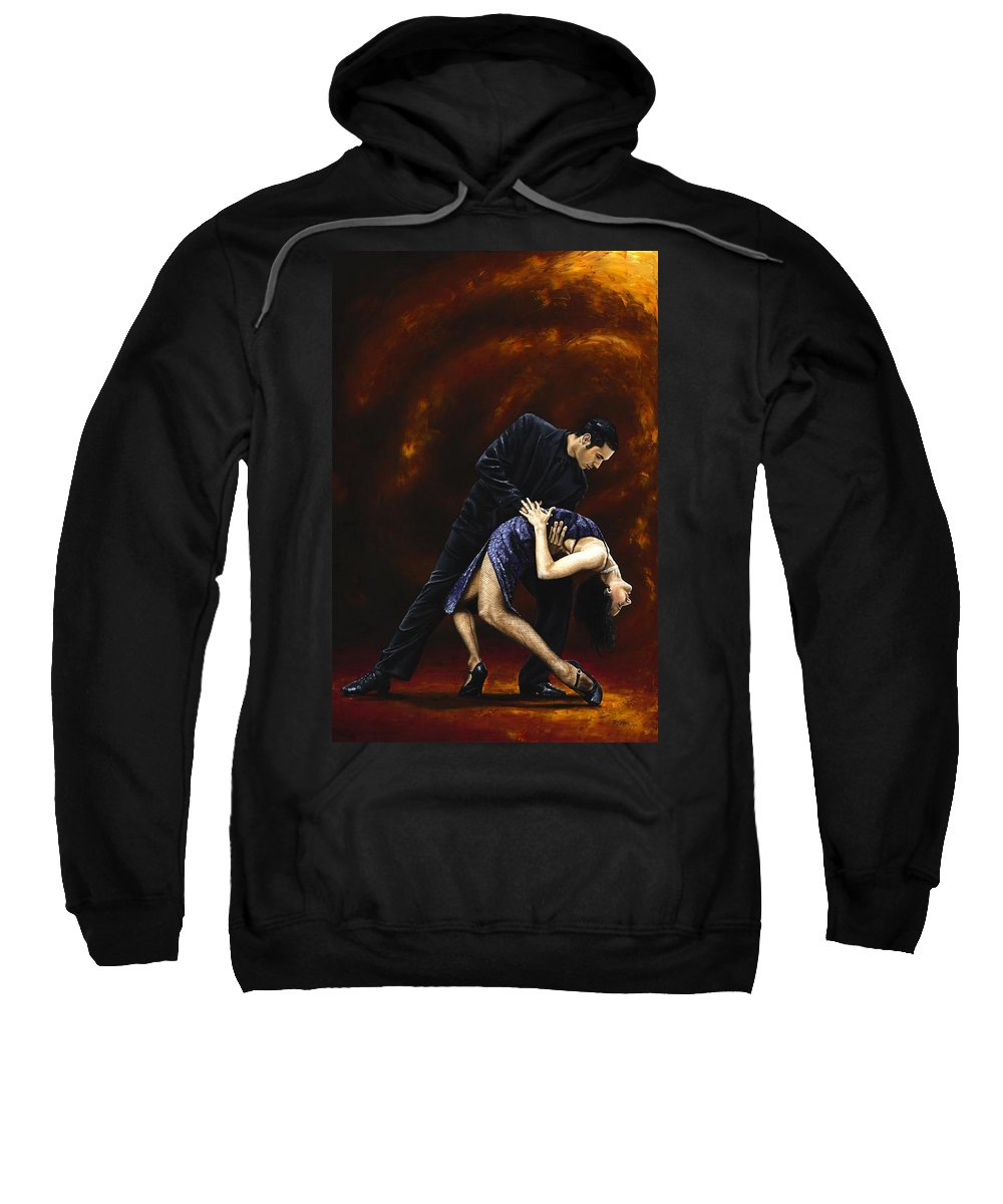 Tango Sweatshirt featuring the painting Lost in Tango by Richard Young