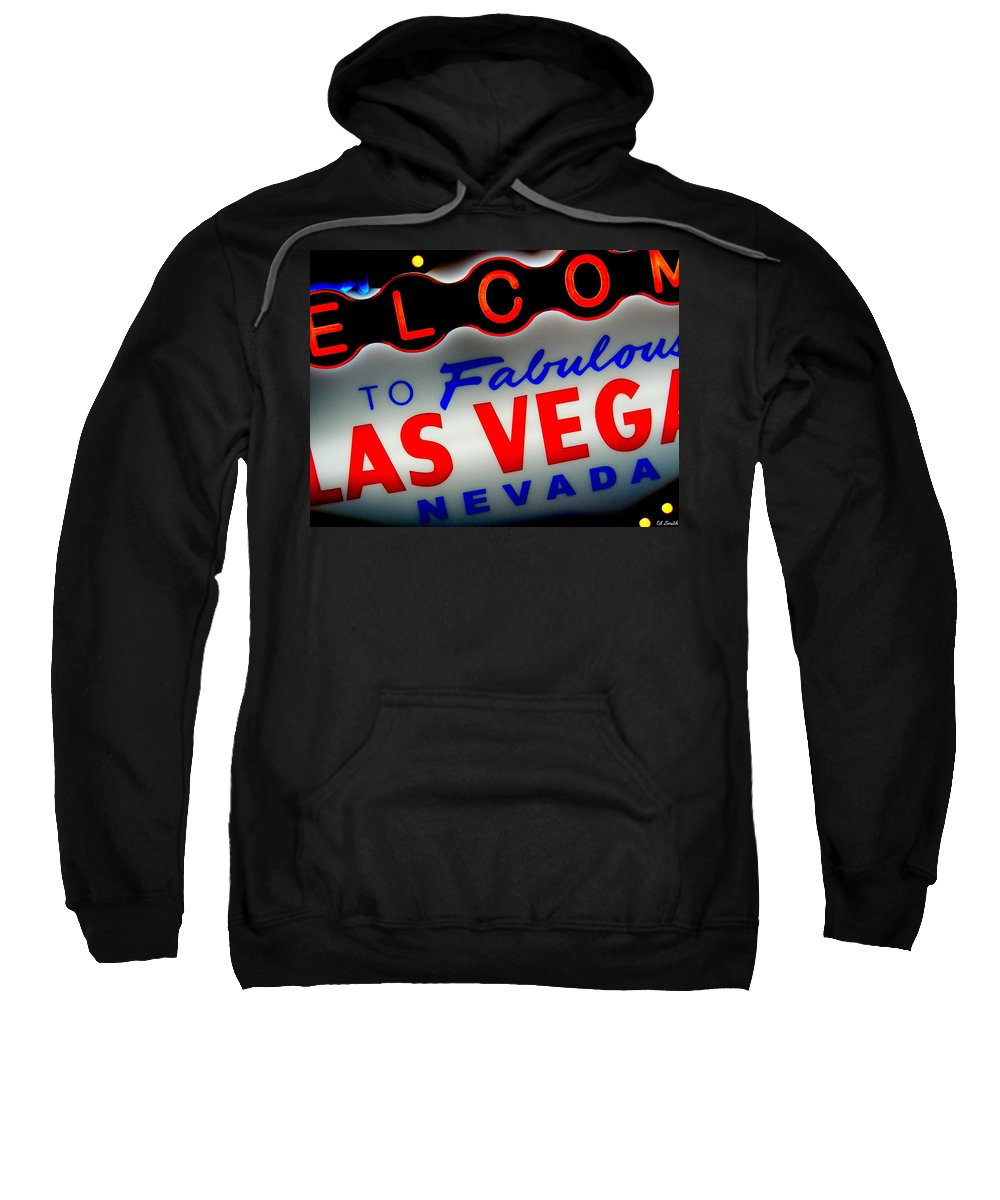 Lost Sweatshirt featuring the photograph Lost In Vegas by Ed Smith