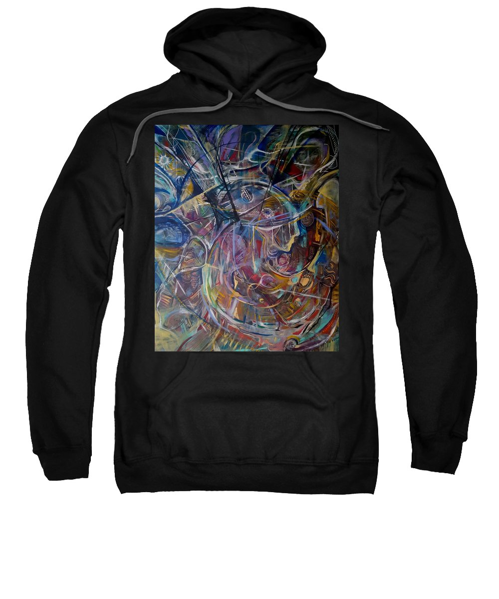 Intuitive Sweatshirt featuring the painting Lost Meme by Jan VonBokel