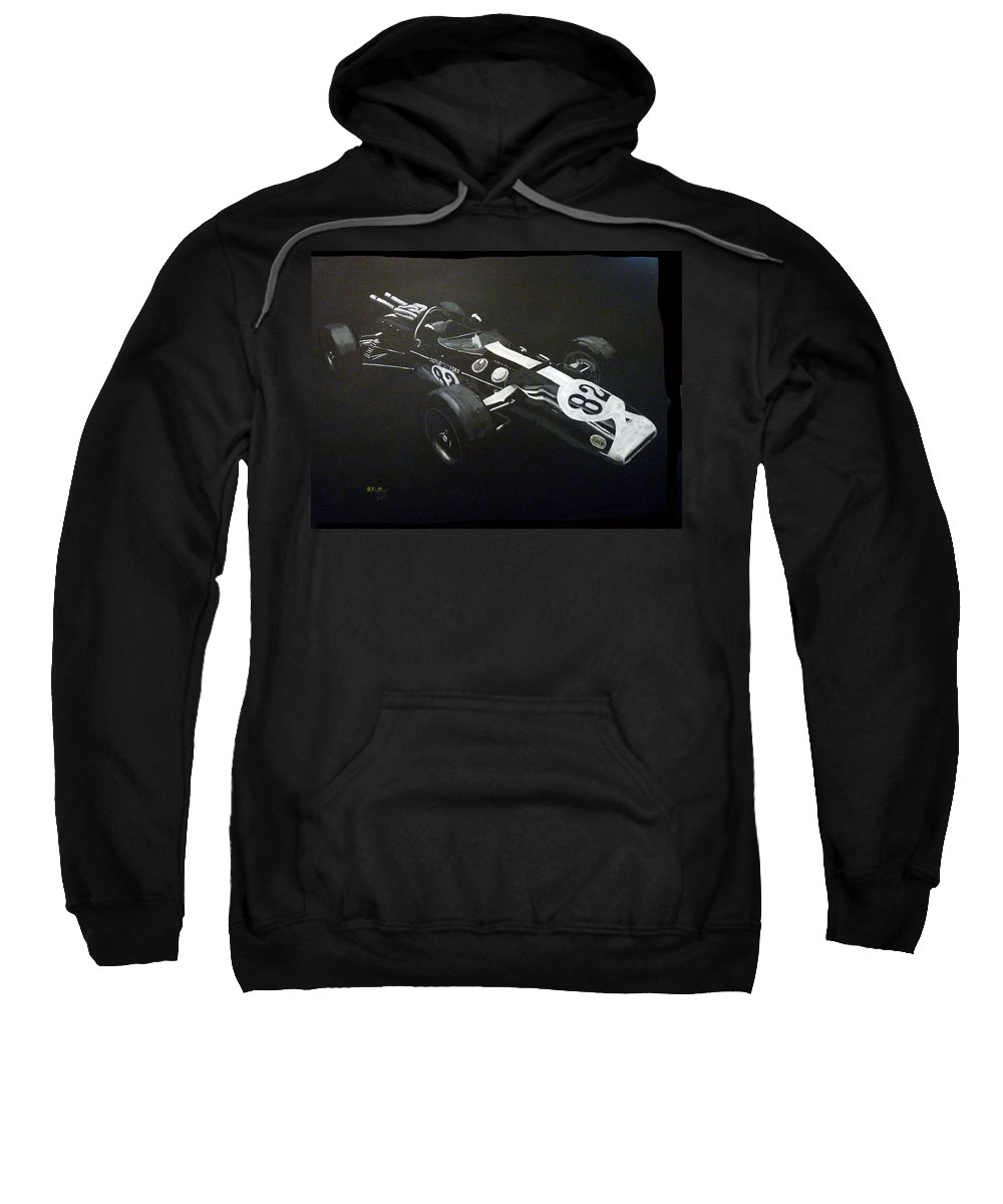 Lotus 38 Sweatshirt featuring the painting Lotus 38 No82 by Richard Le Page