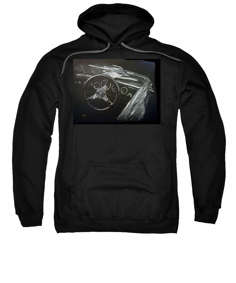 Lotus Eleven Sweatshirt featuring the painting Lotus Eleven by Richard Le Page