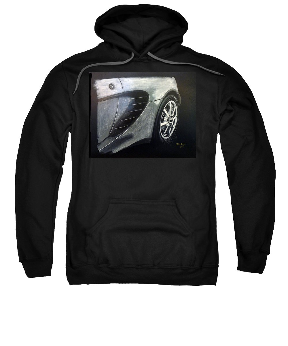 Lotus Exige Sweatshirt featuring the painting Lotus Exige Rear Side by Richard Le Page