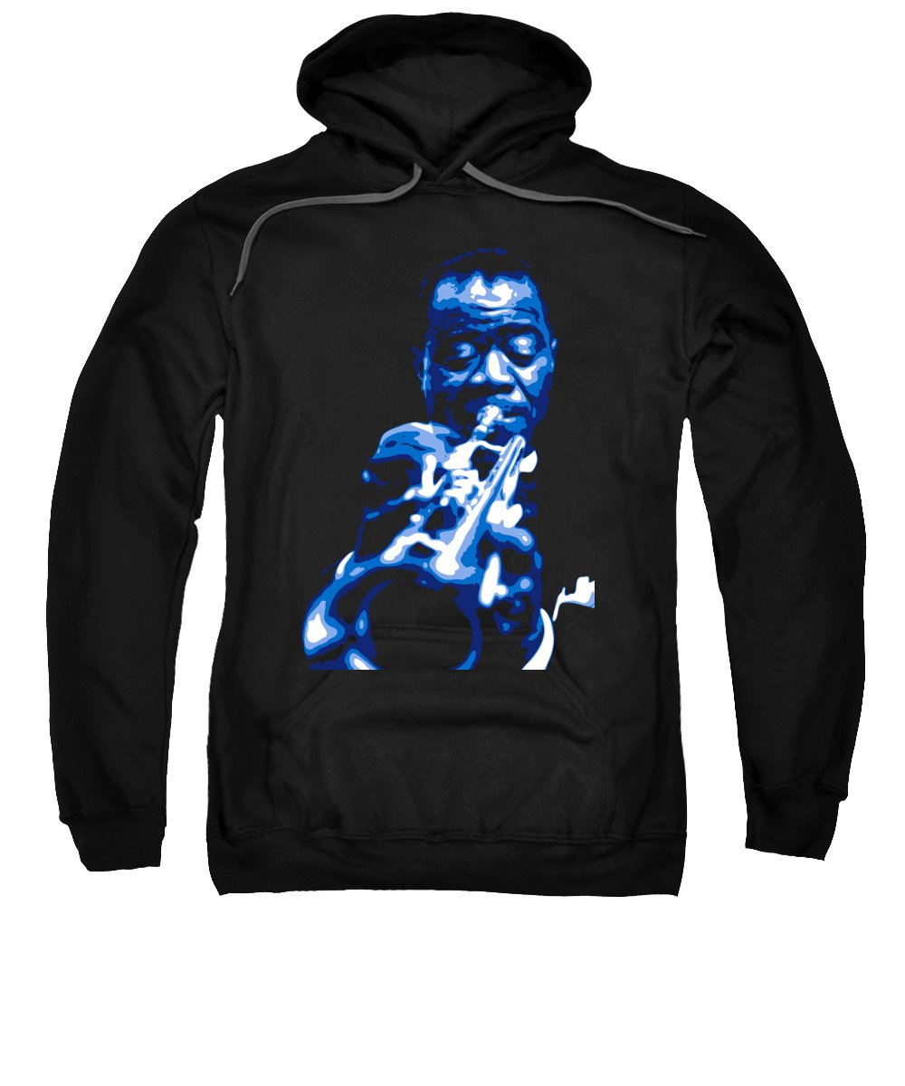 Louis Armstrong Sweatshirt featuring the digital art Louis Armstrong by DB Artist