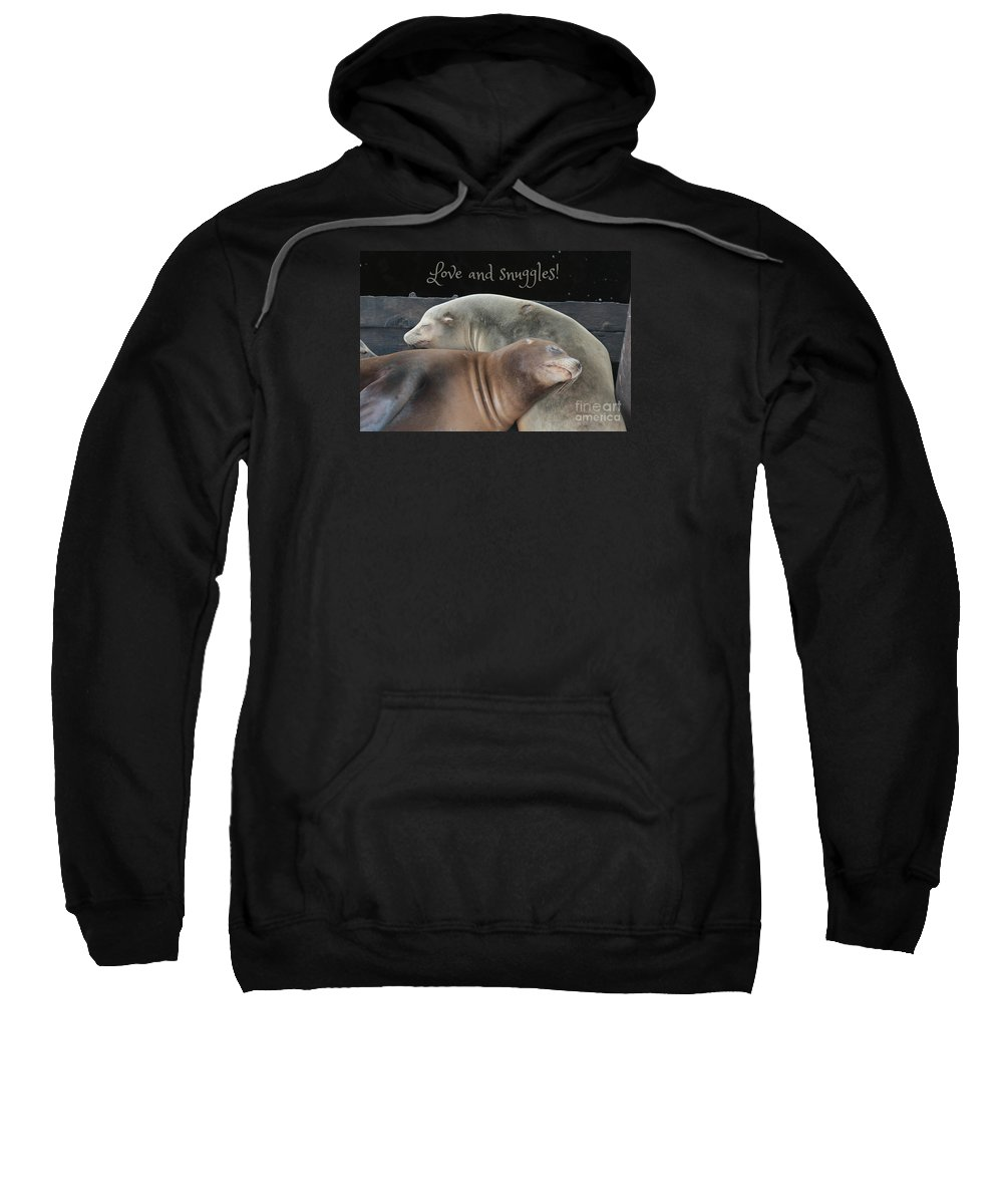 Thinking Of You Sweatshirt featuring the photograph Love And Snuggles by Carol Groenen