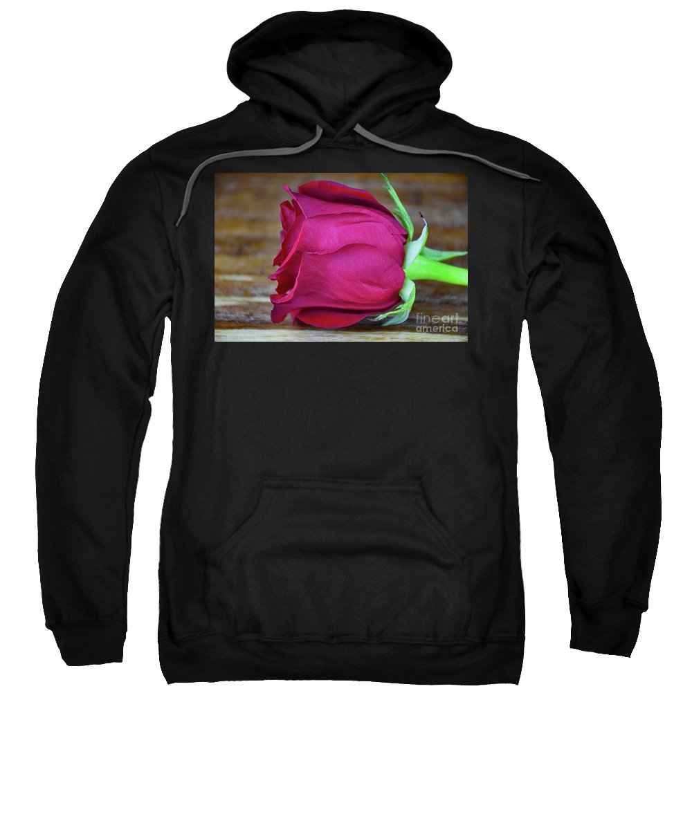 Love By Rose Sweatshirt featuring the photograph Love By Rose by Ray Shrewsberry