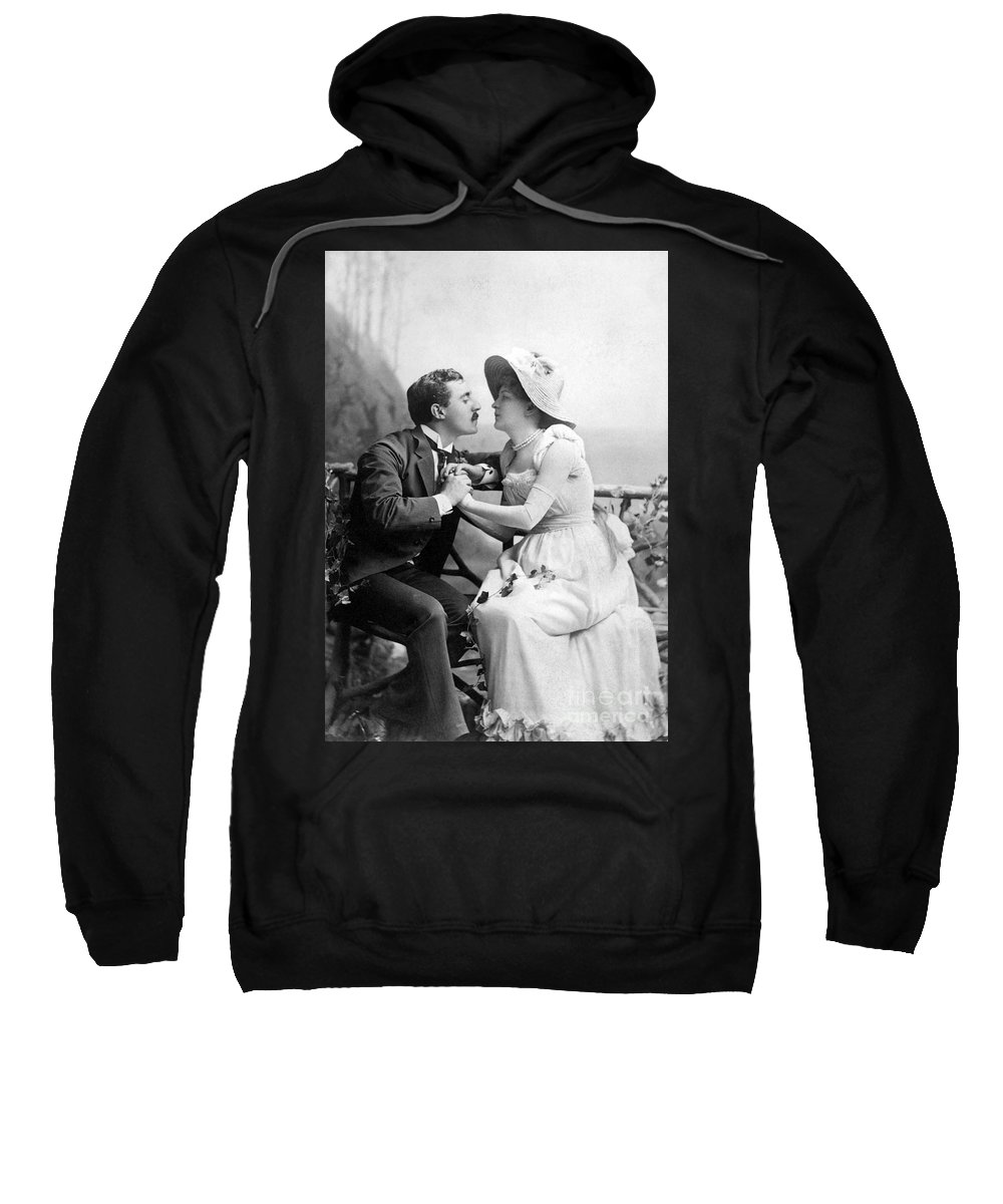 1890 Sweatshirt featuring the photograph Love, C1890 by Granger